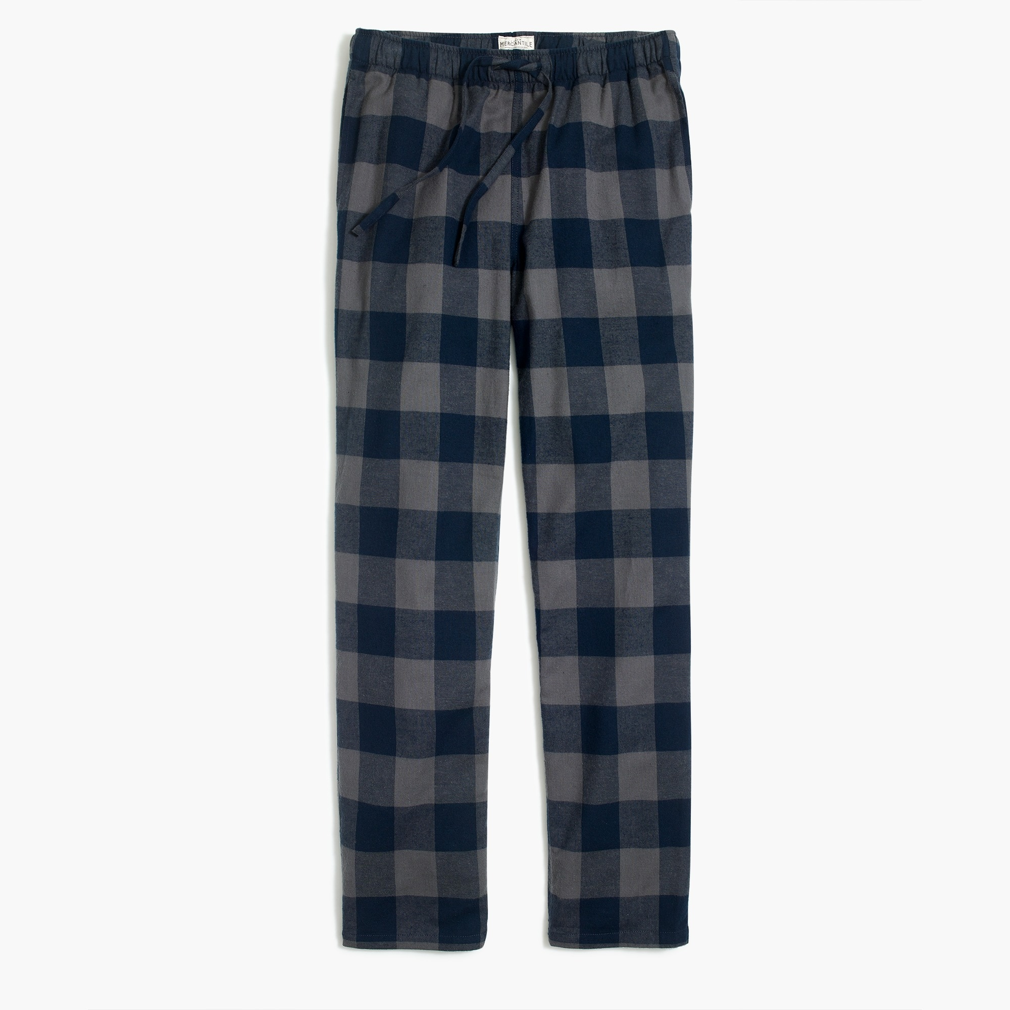 Flannel pajama pant in blue buffalo check
