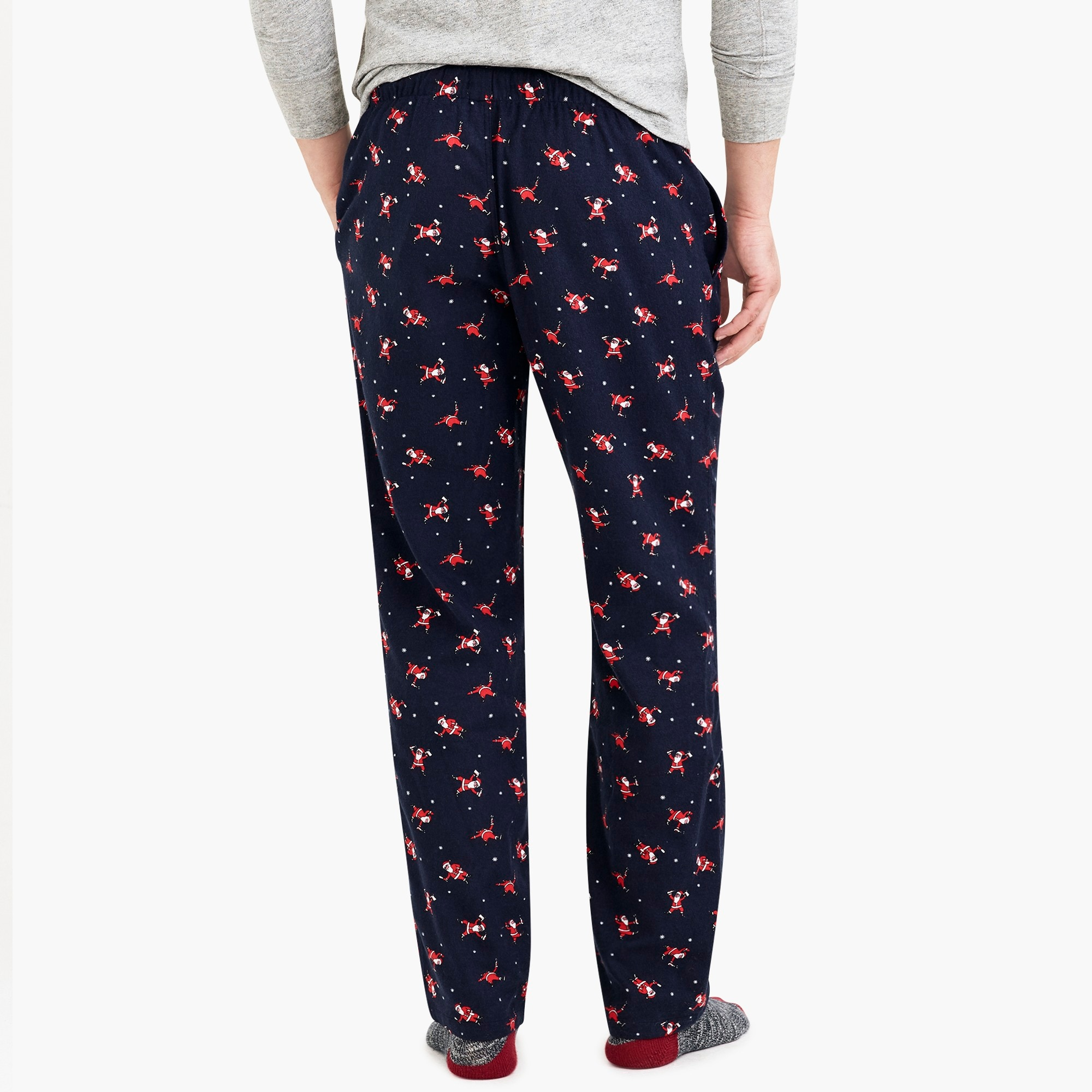 Image 3 for Flannel pajama pant with santa print