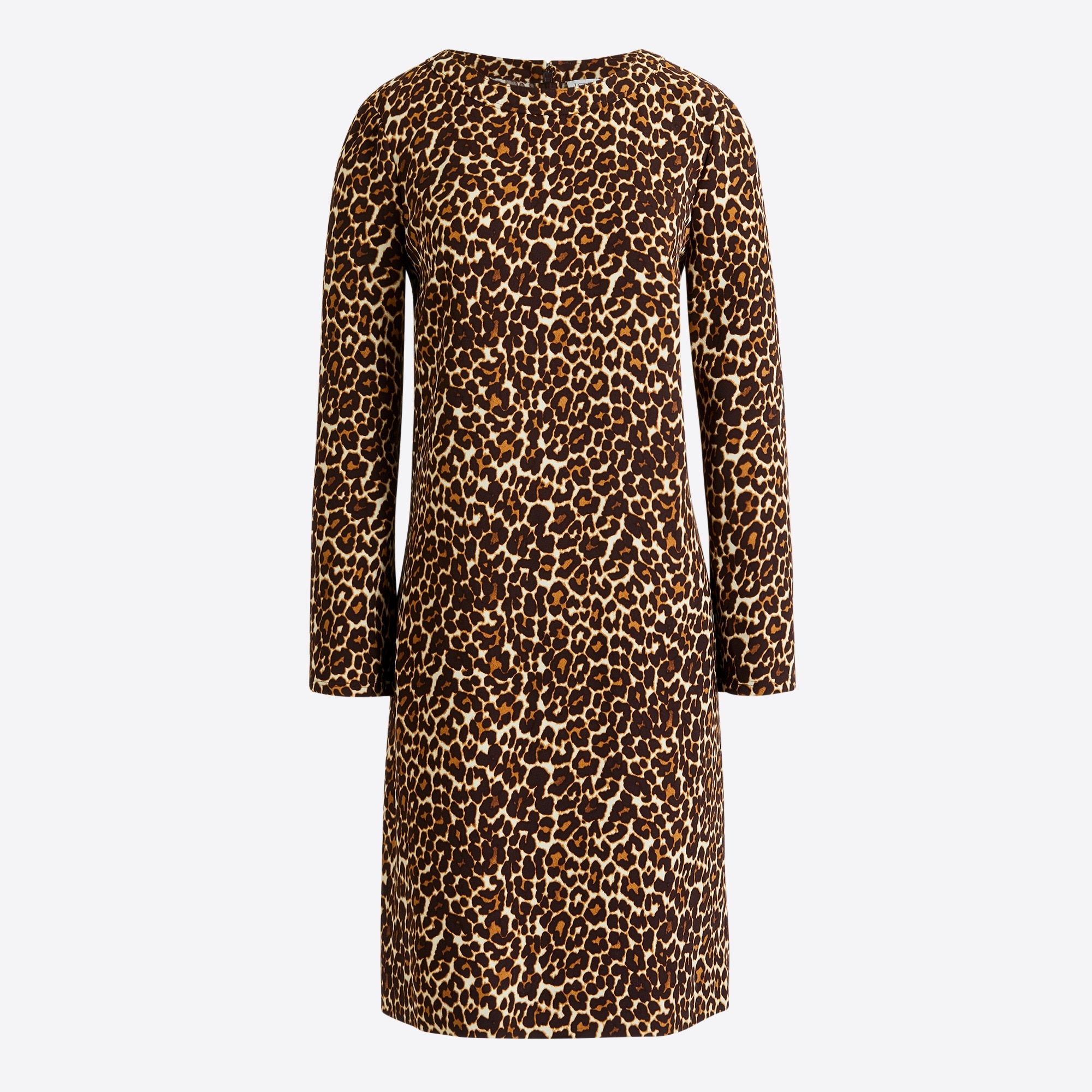 Image 2 for Crepe shift dress in cat print