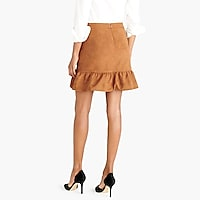 Image 3 for Faux-suede mini skirt