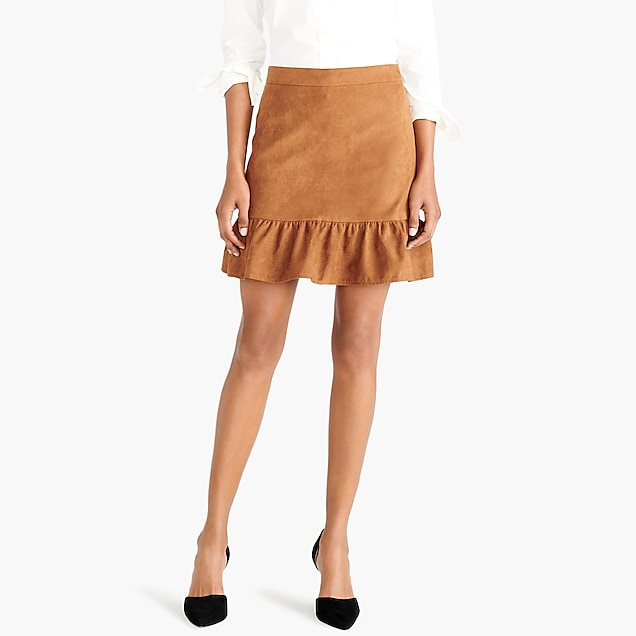 j.crew factory: faux-suede mini skirt