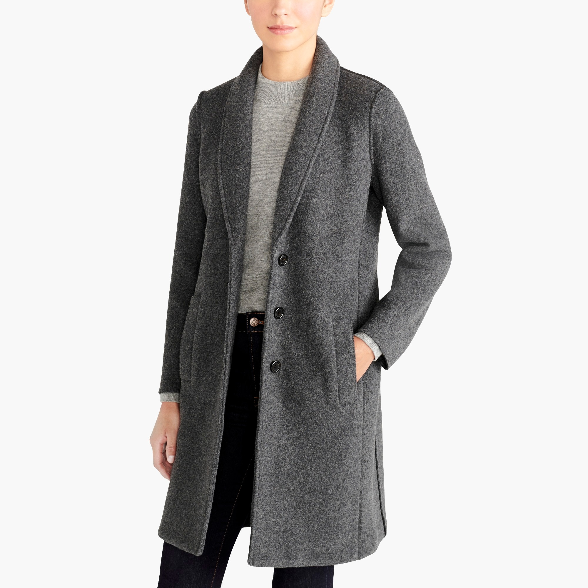 factory womens Boiled wool topcoat