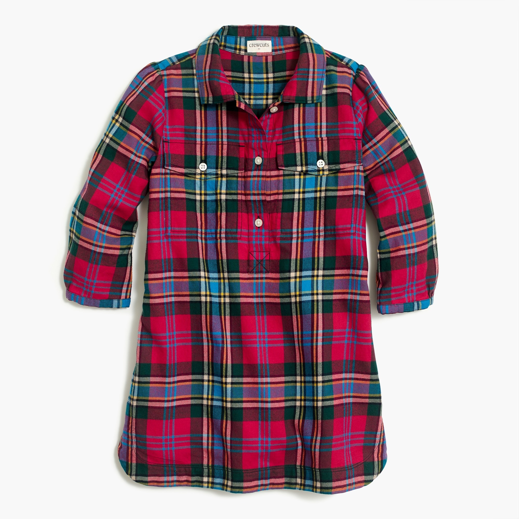 j.crew factory: girls' flannel shirtdress
