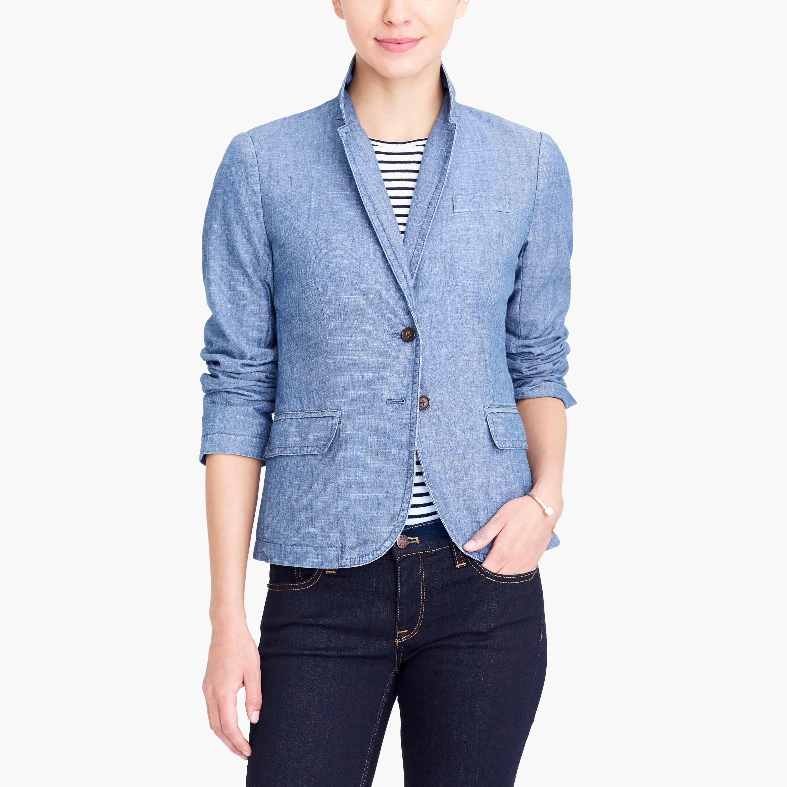 Image 1 for Chambray blazer