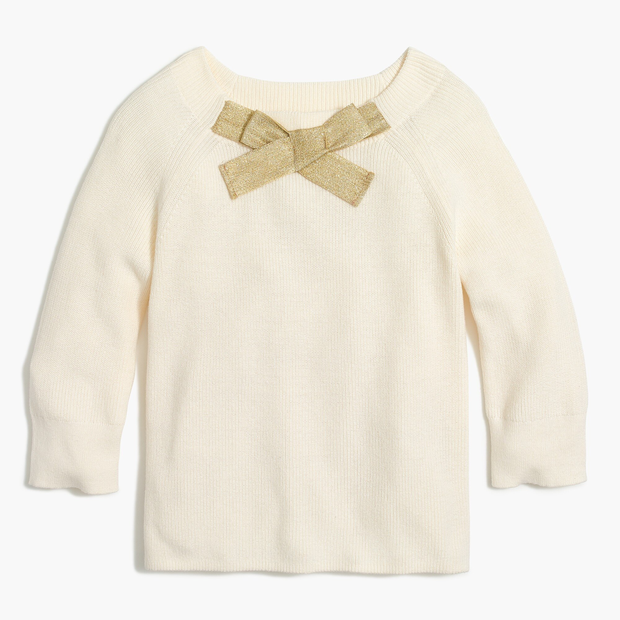 Image 2 for Girls'  bow-neck popover sweater