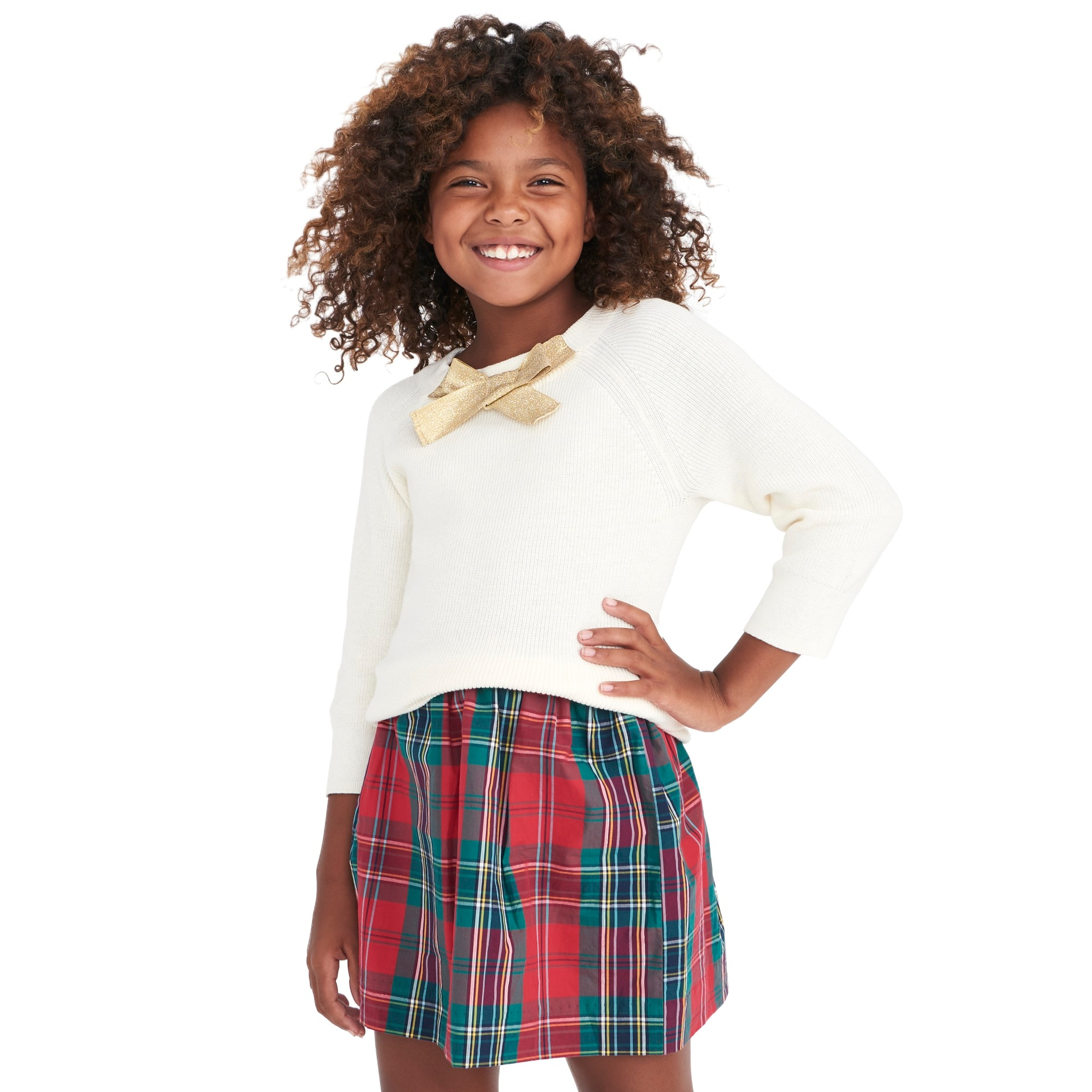 girls'  bow-neck popover sweater : factorygirls dress-up shop