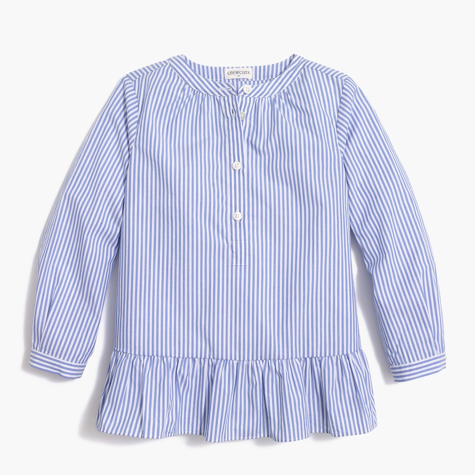 factory girls Girls' long-sleeve stripe peplum top
