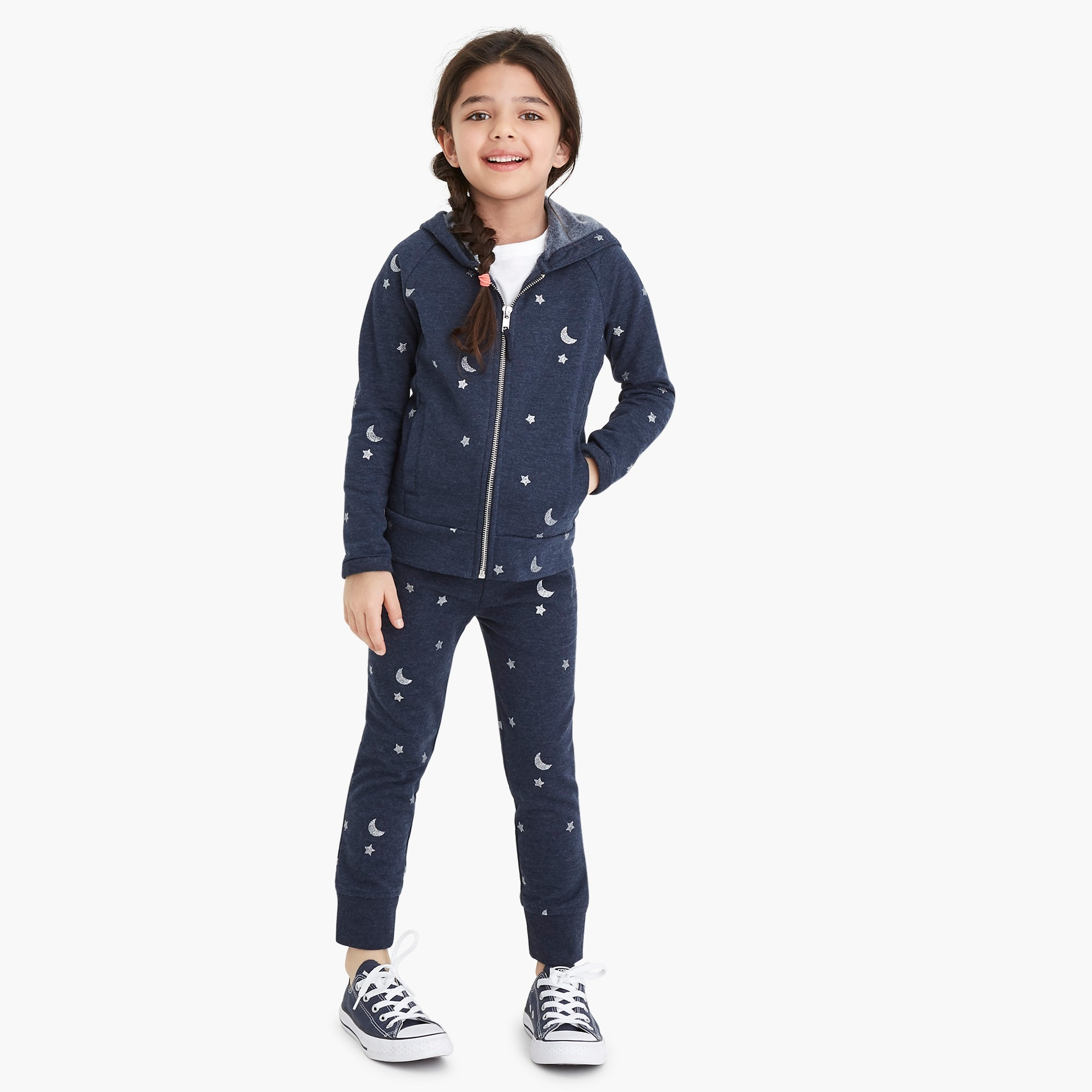 factory girls Girls' sweatpants in star and moon print