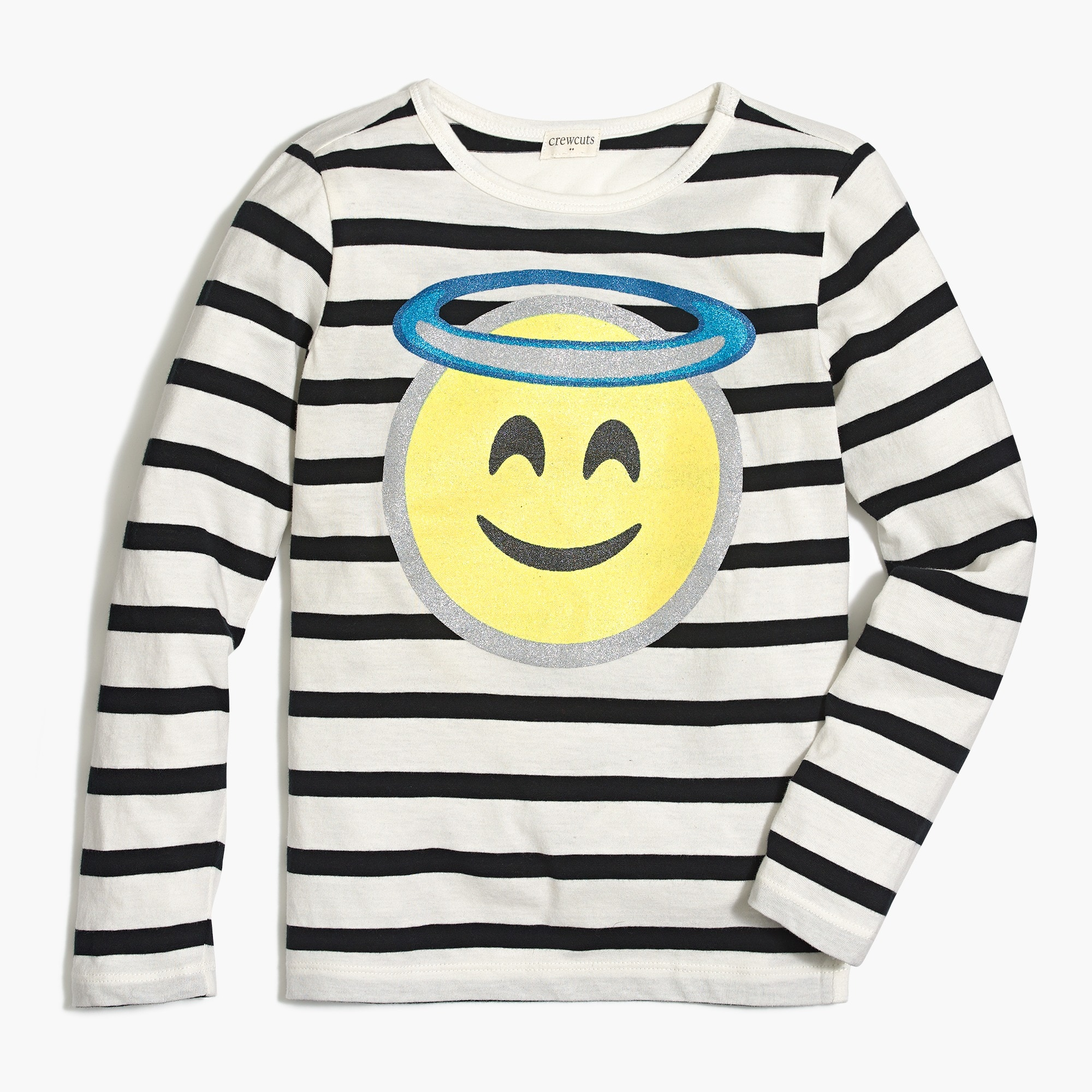 factory girls Girls' long-sleeve angel emoji graphic T-shirt