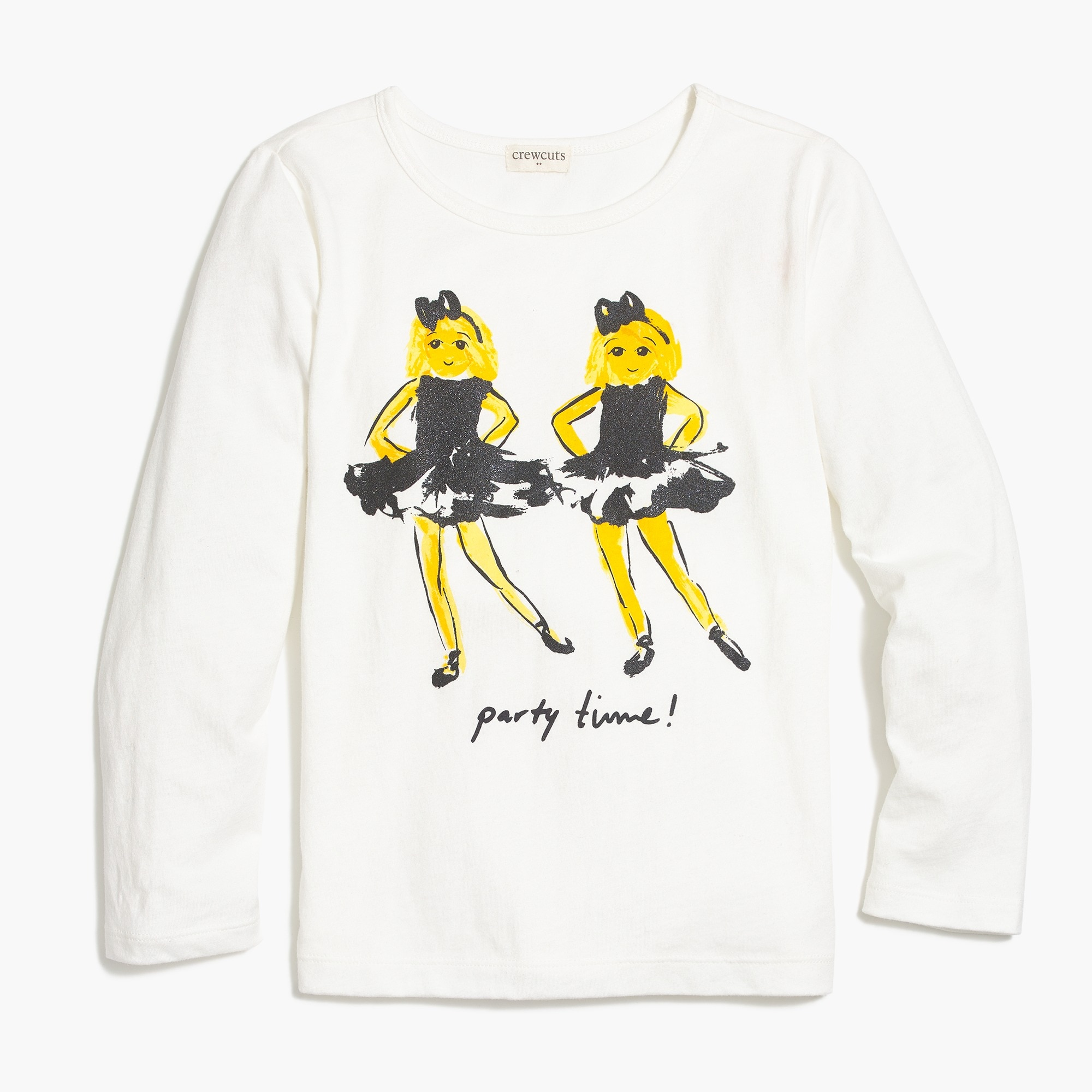 factory girls Girls' long-sleeve BFF emoji graphic T-shirt