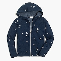 Image 2 for Girls' star and moon zip-up hoodie