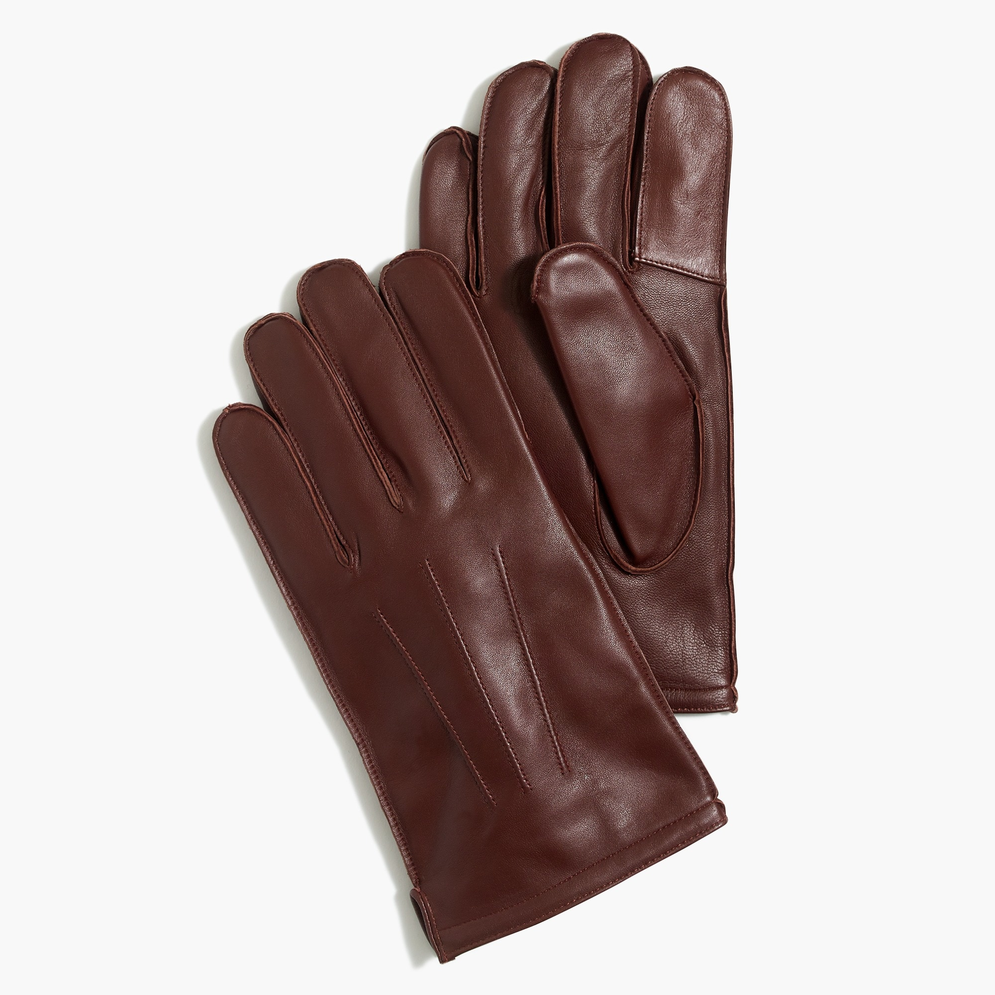 factory mens Flannel-lined leathersmartphone gloves