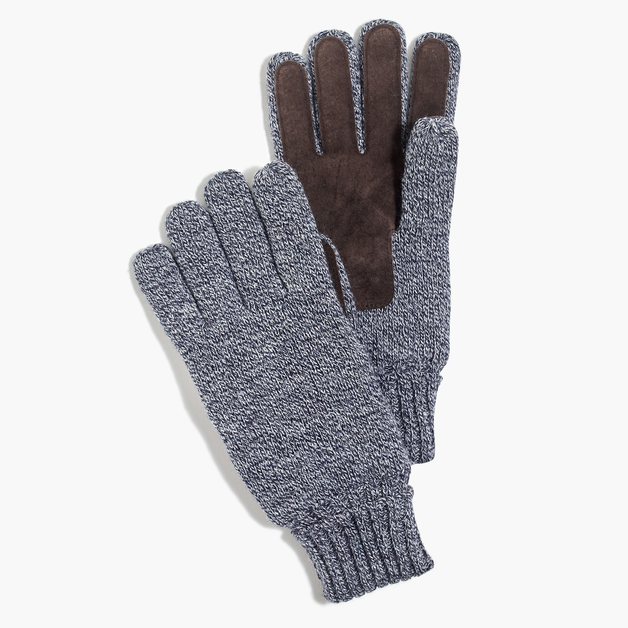 factory mens Marled suede gloves