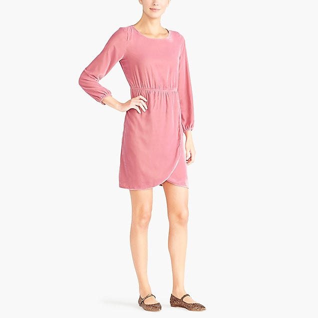 j.crew factory: velvet tulip-hem dress