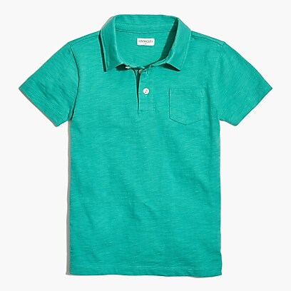 factory boys Boys' extra-soft slub cotton polo shirt