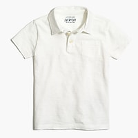 Boys' extra-soft slub cotton polo shirt