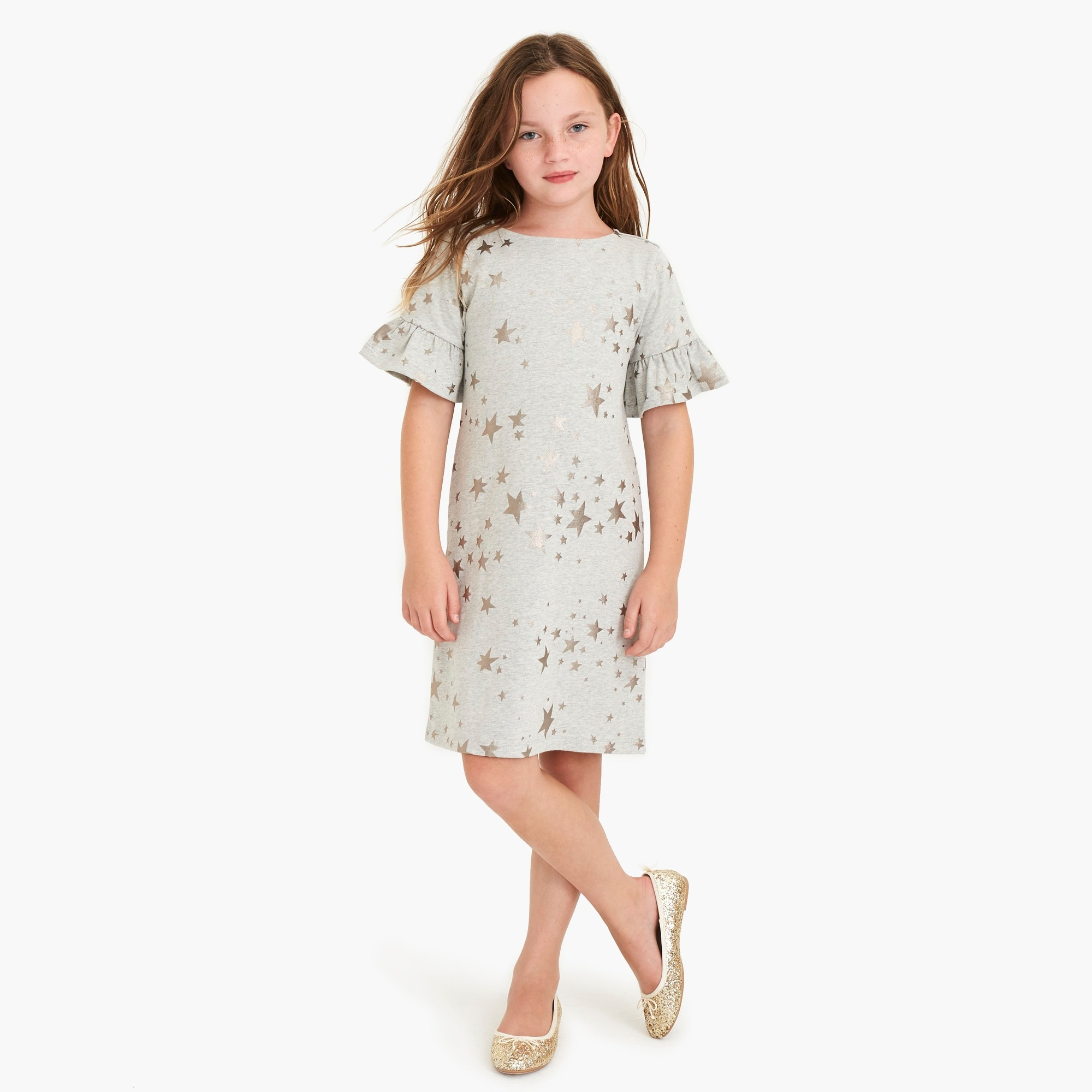 Image 1 for Girls' star-print dress