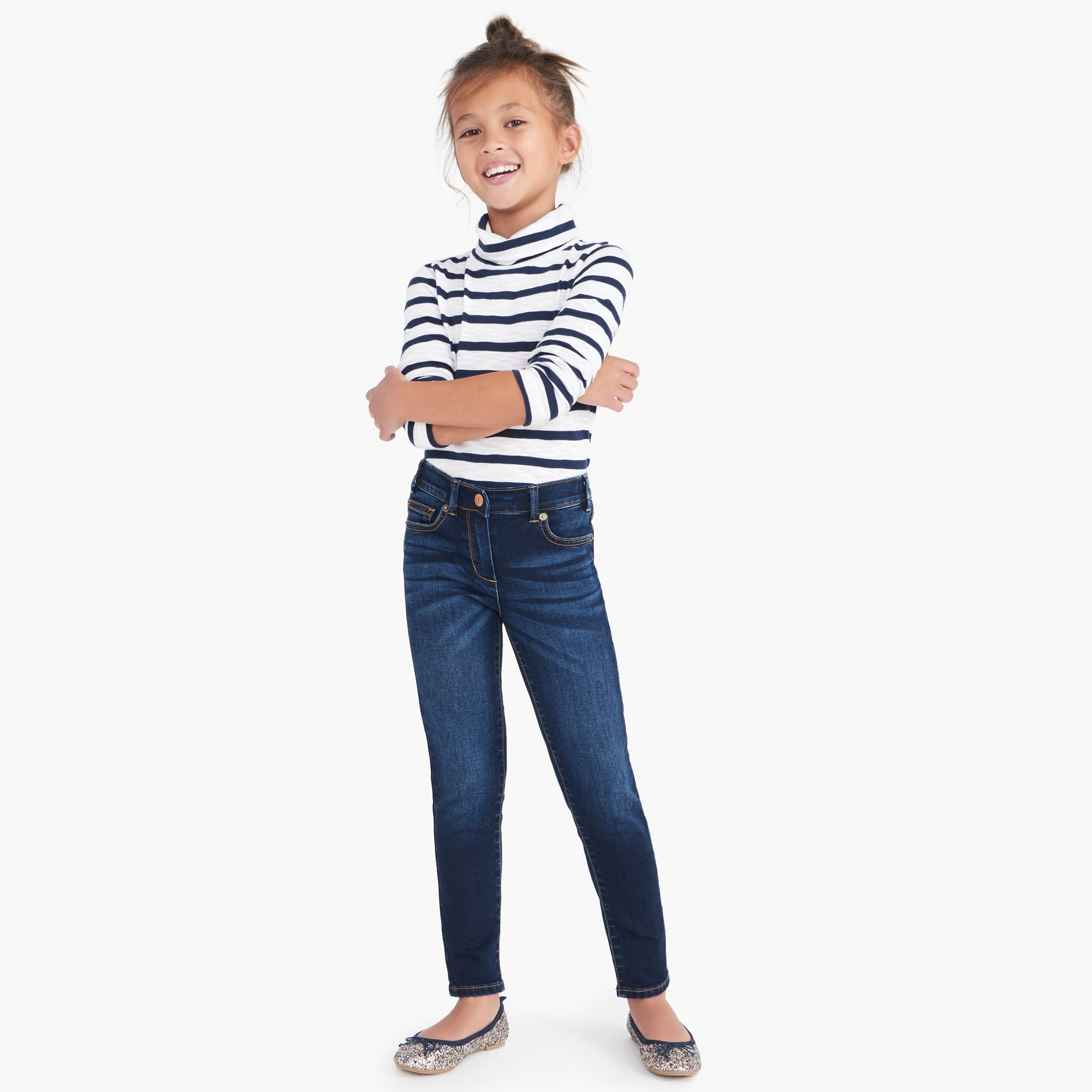 factory girls Girls' Anywhere jean in dark wash