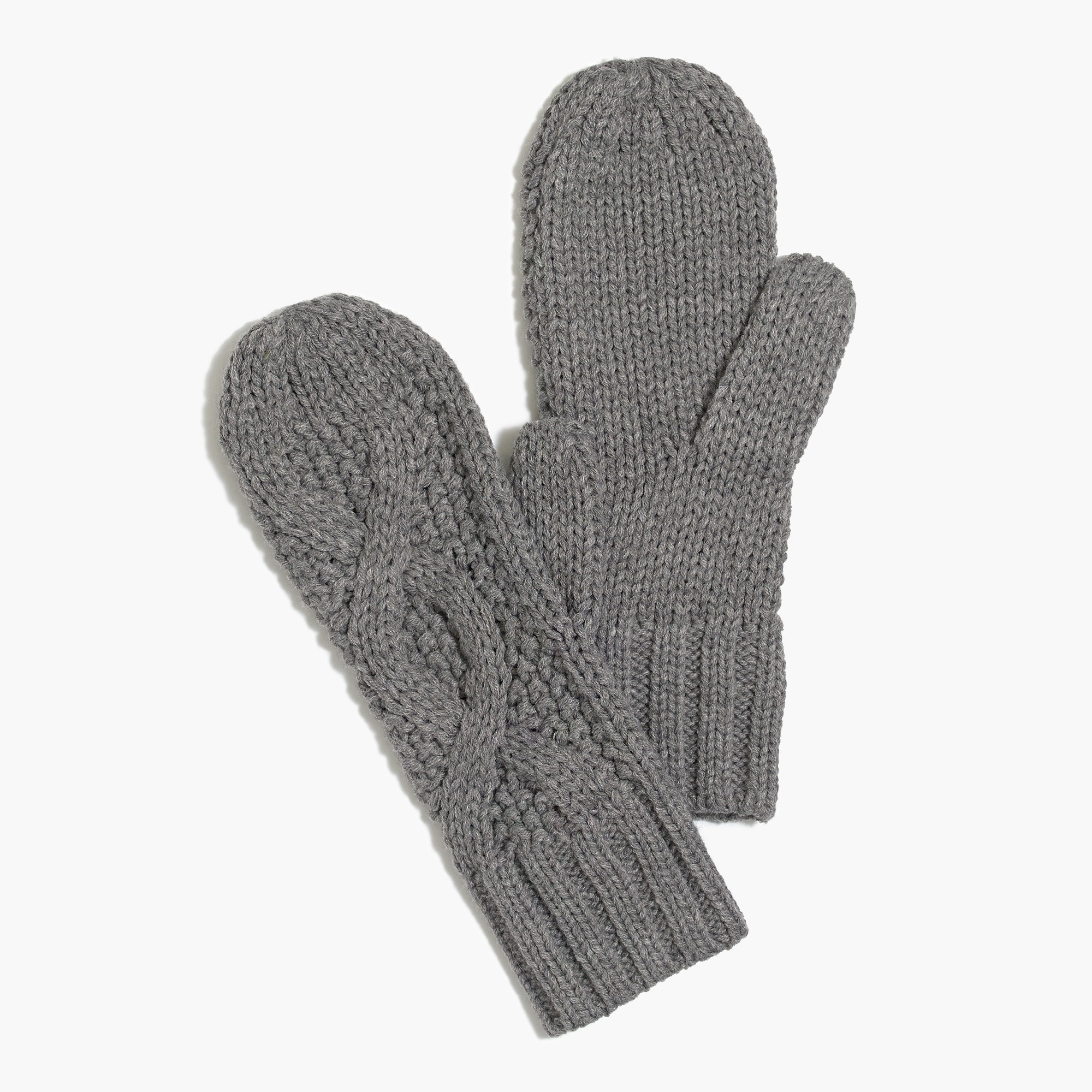 cable-knit mittens : factorywomen gloves & mittens