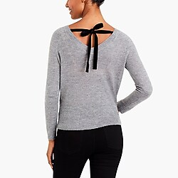 Bow-back sweater