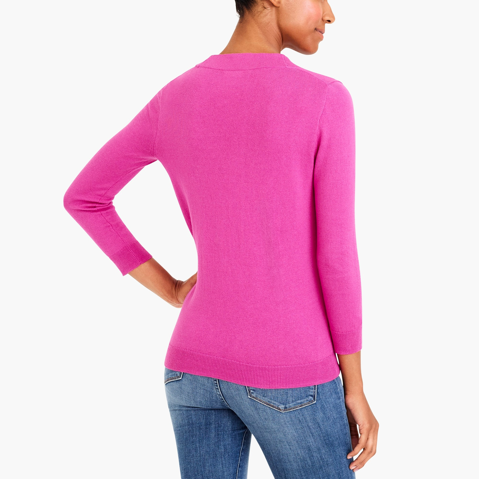 Bow v-neck sweater