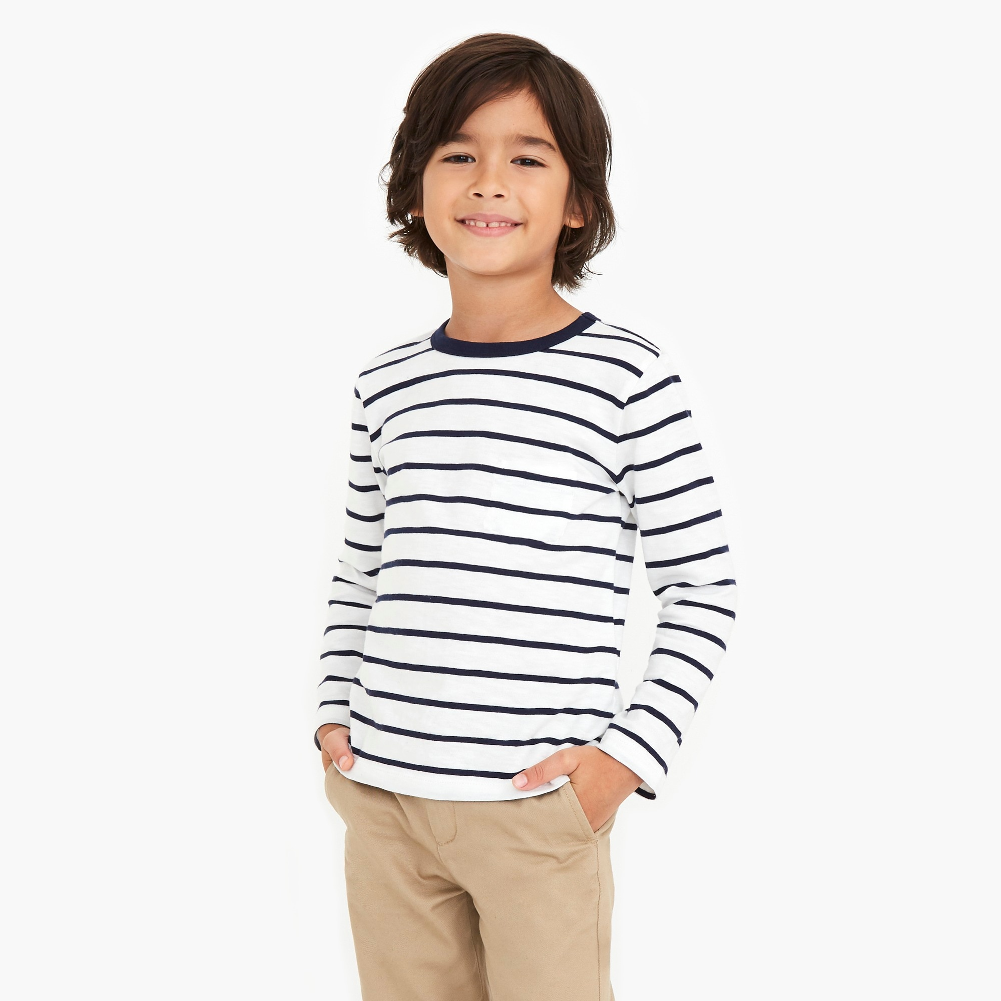 factory boys Boys' long-sleeve striped T-shirt