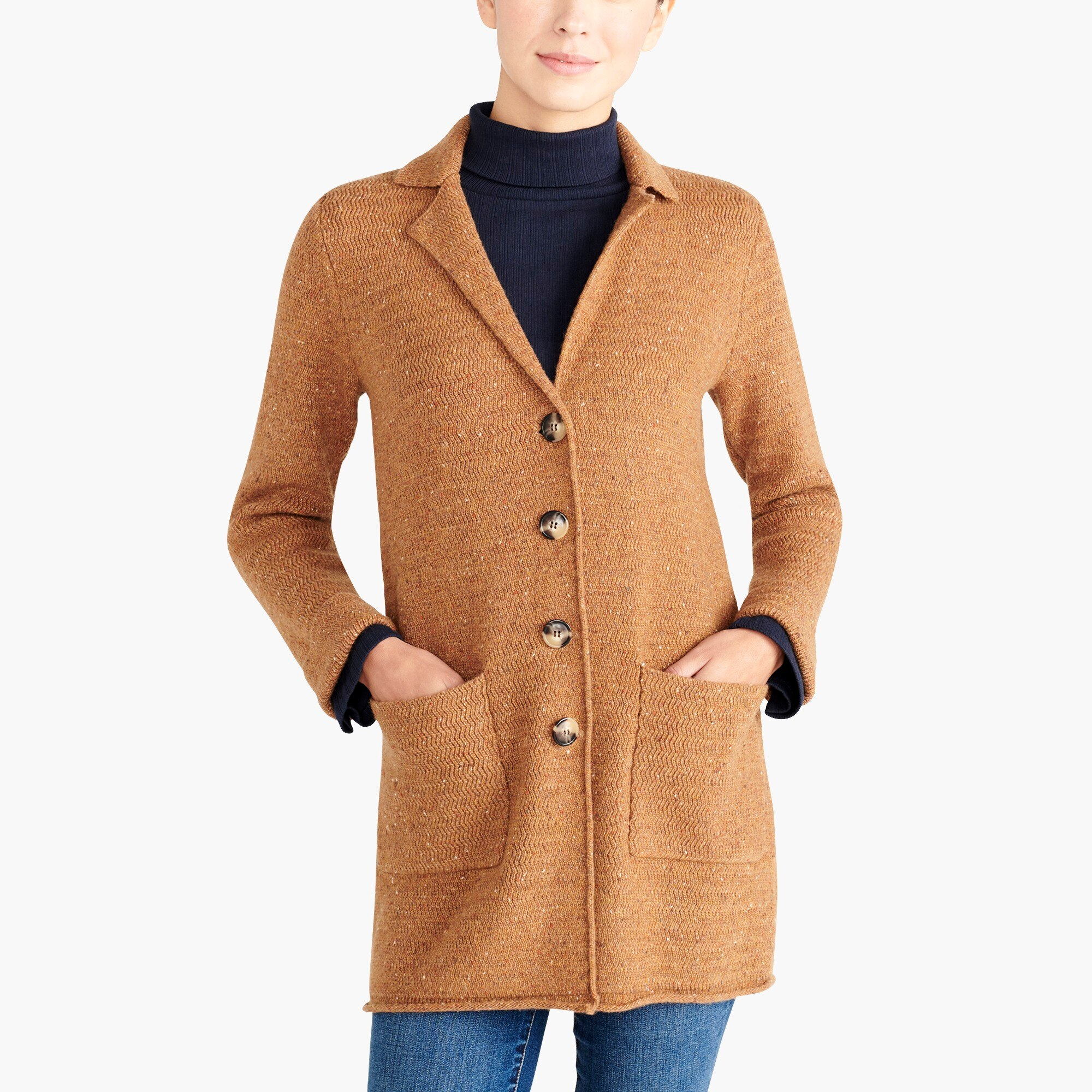 factory womens Donegal sweater-coat
