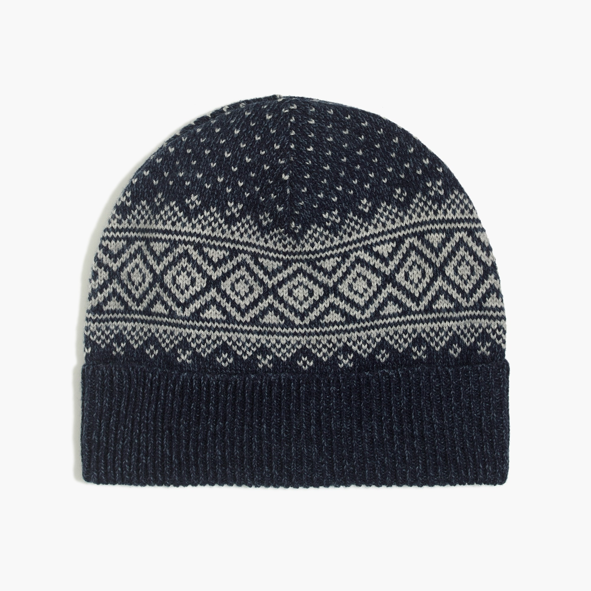 factory mens Fair isle beanie
