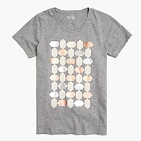 Metallic hexagon T-shirt