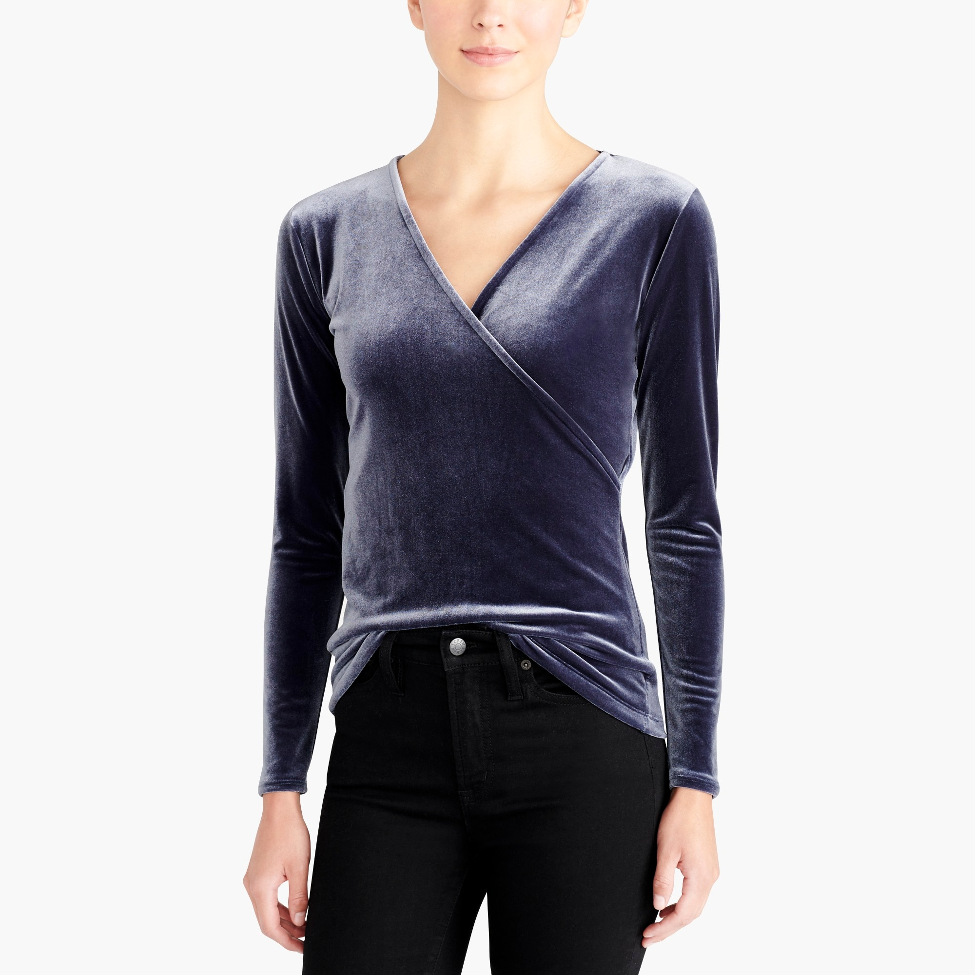 factory womens Velvet wrap top