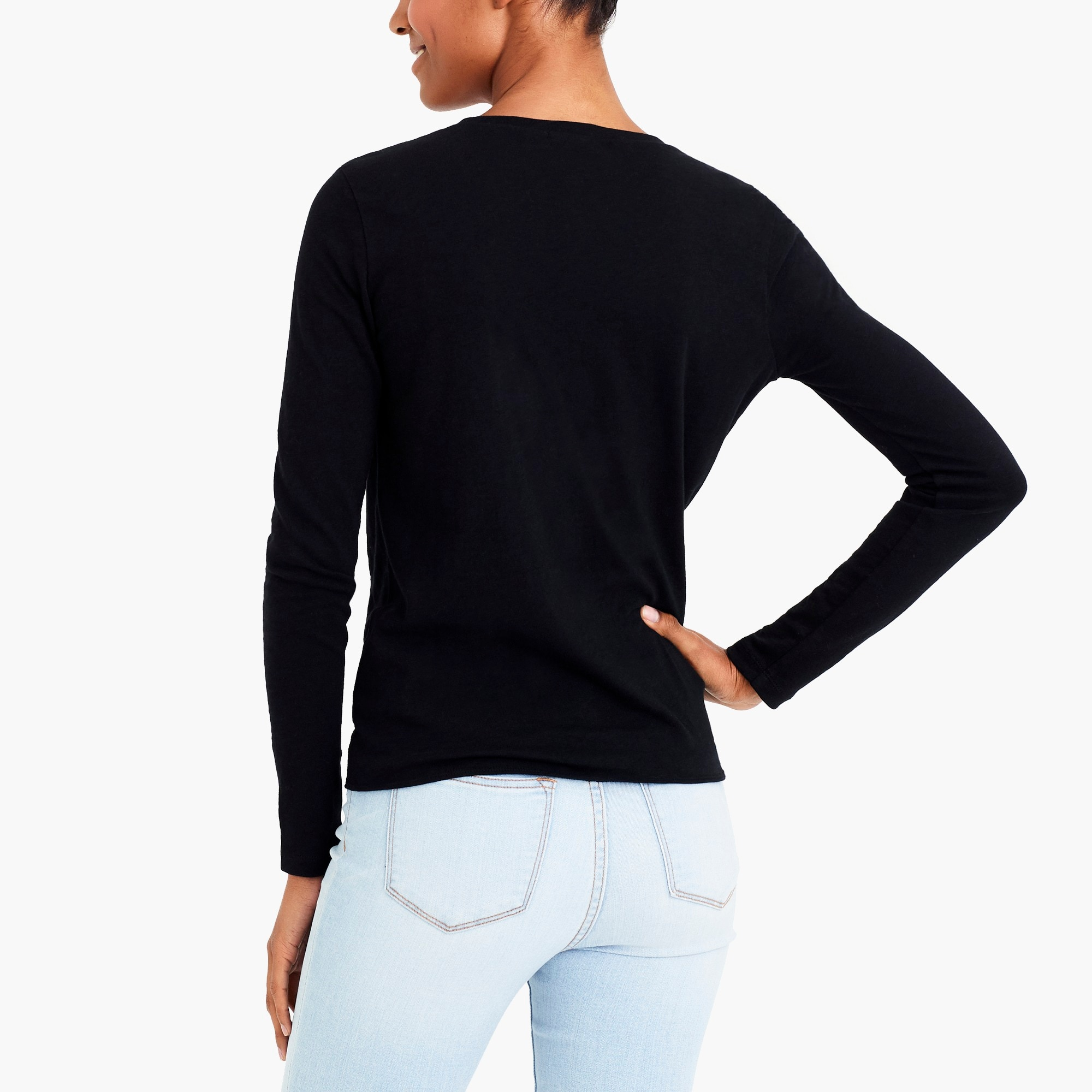 Image 3 for Long-sleeve tie-waist T-shirt