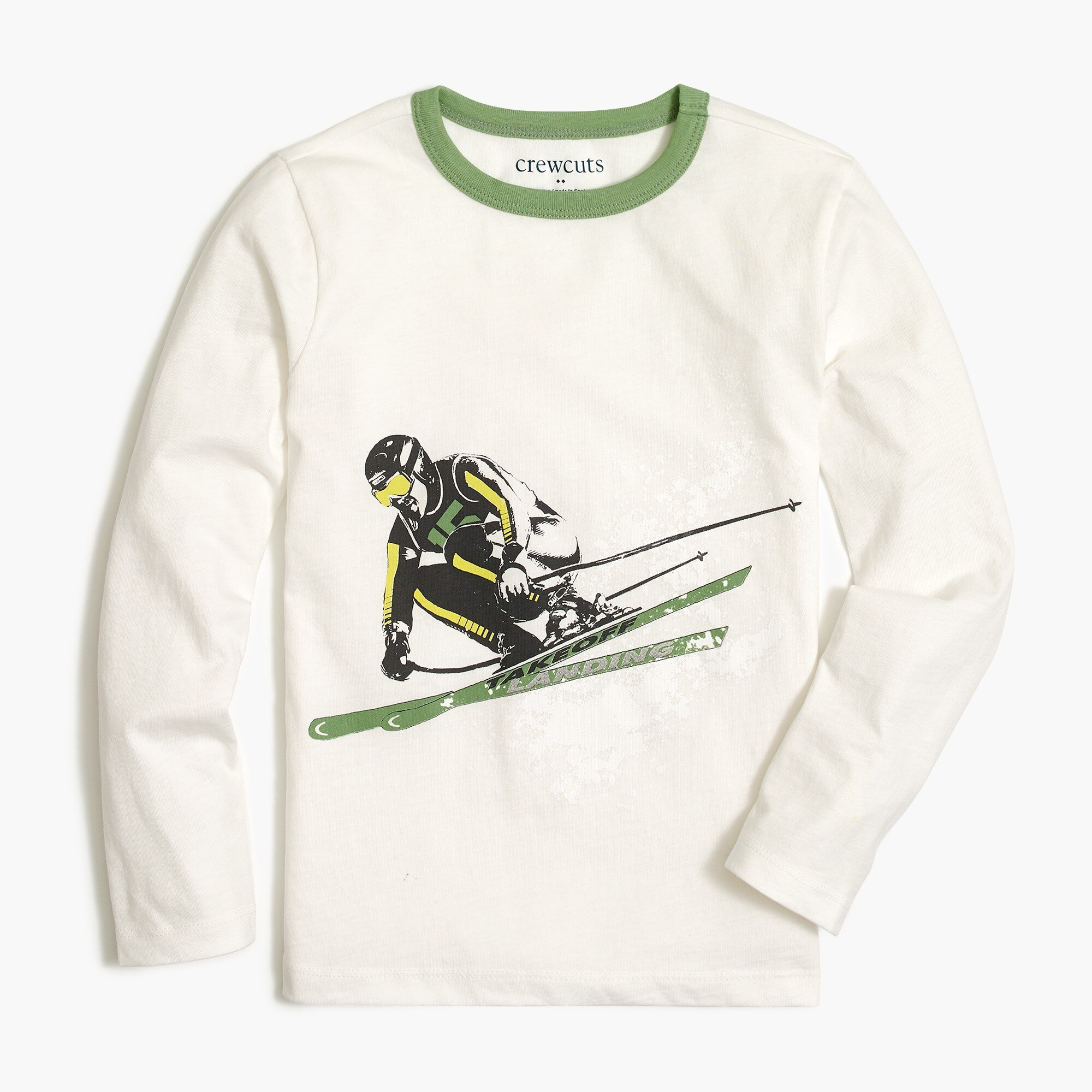 factory boys Boys' skiier raglan graphic T-shirt