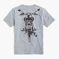 Image 2 for Boys' long-sleeve motorcycle glow-in-the-dark graphic T-shirt