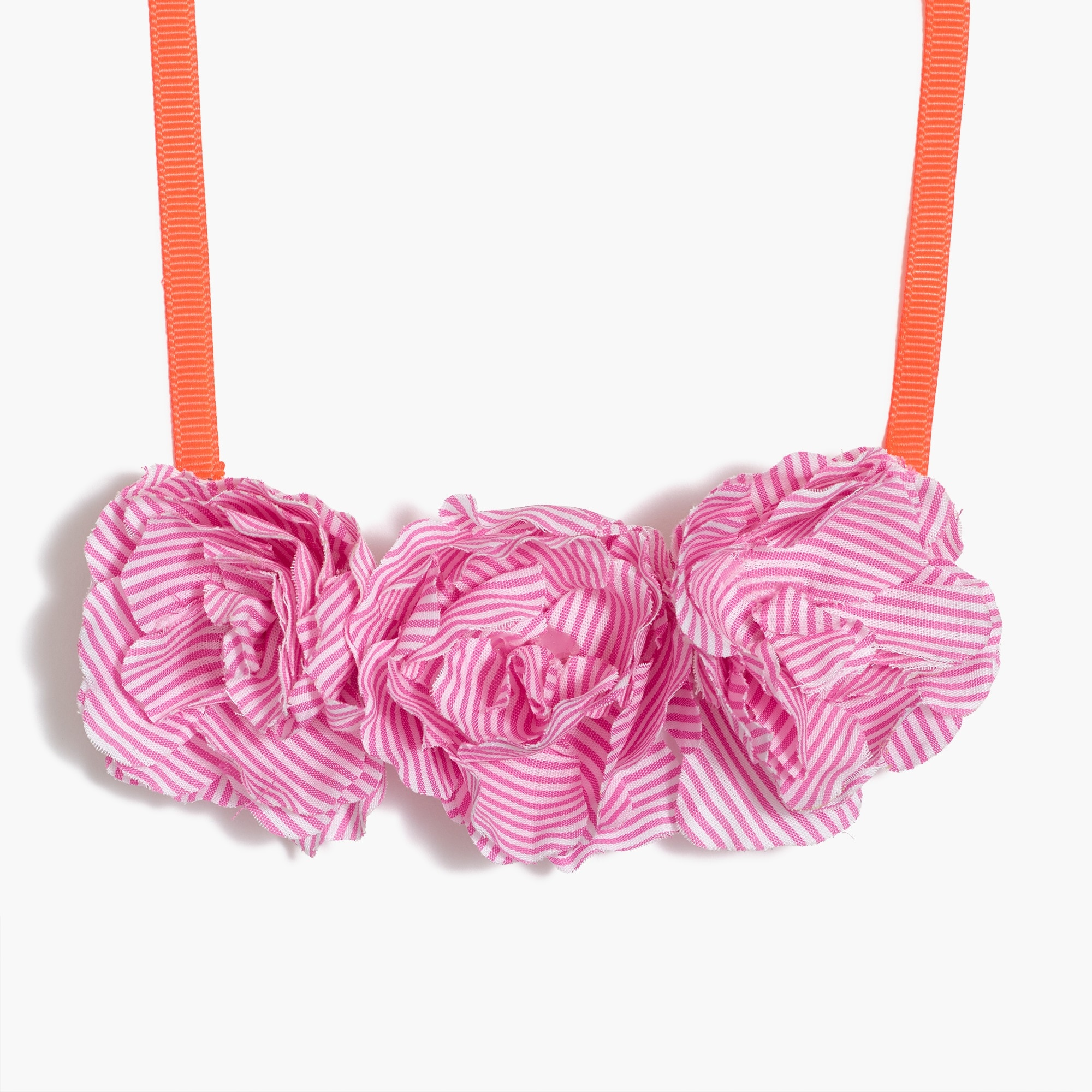 factory girls Girls' fabric flower necklace