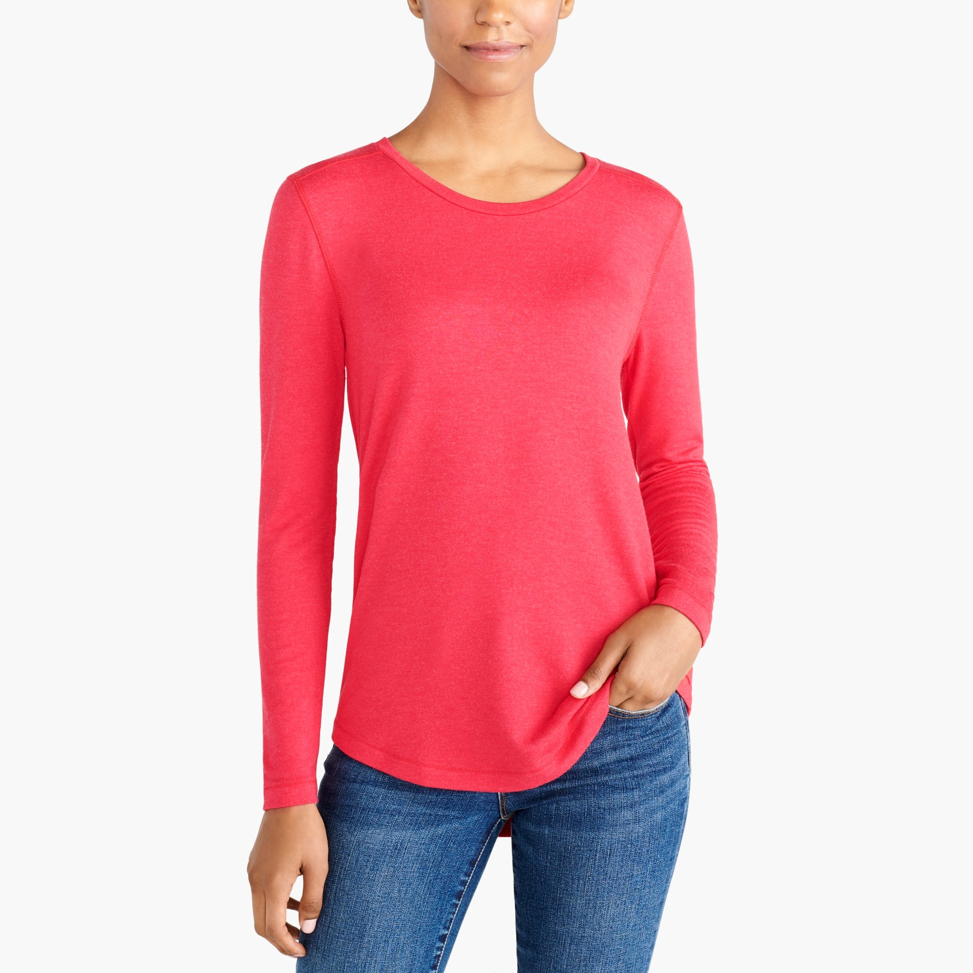 factory womens Long-sleeve supercomfy T-shirt