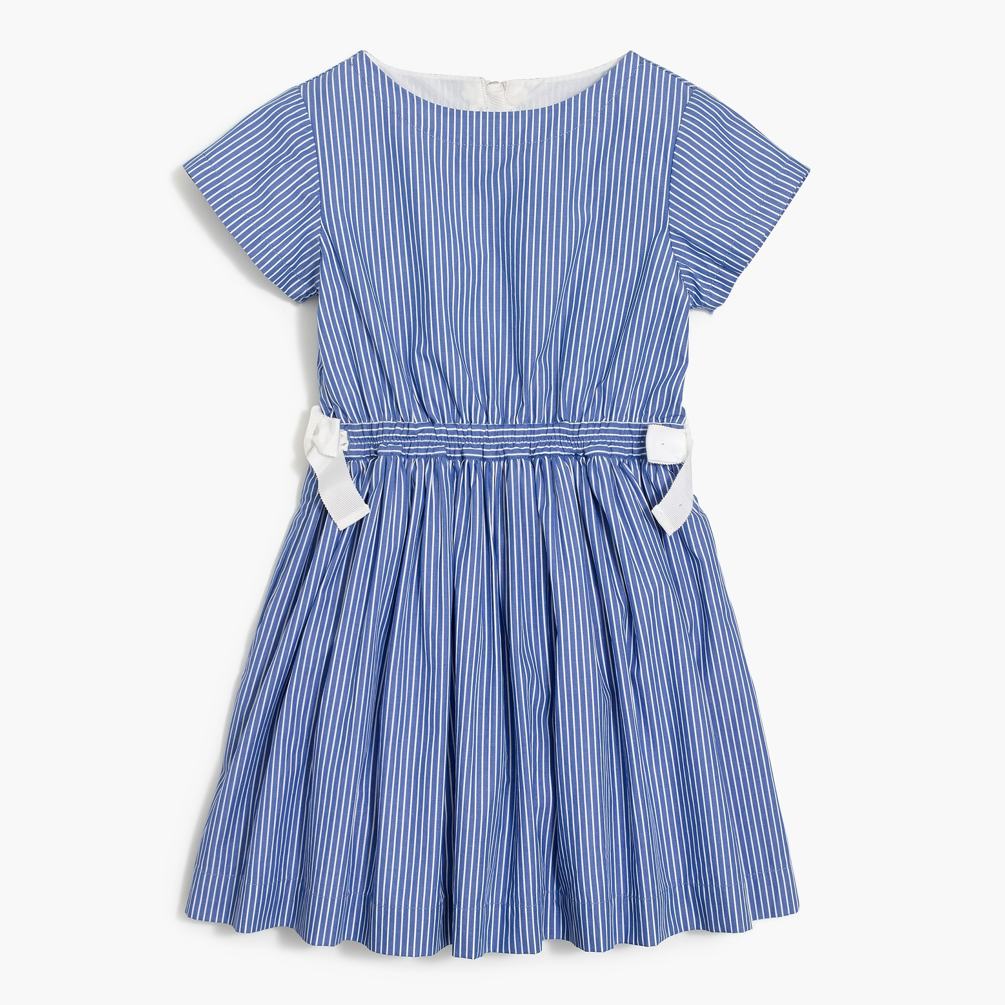 factory girls Girls' short-sleeve stripe dress with tie waist