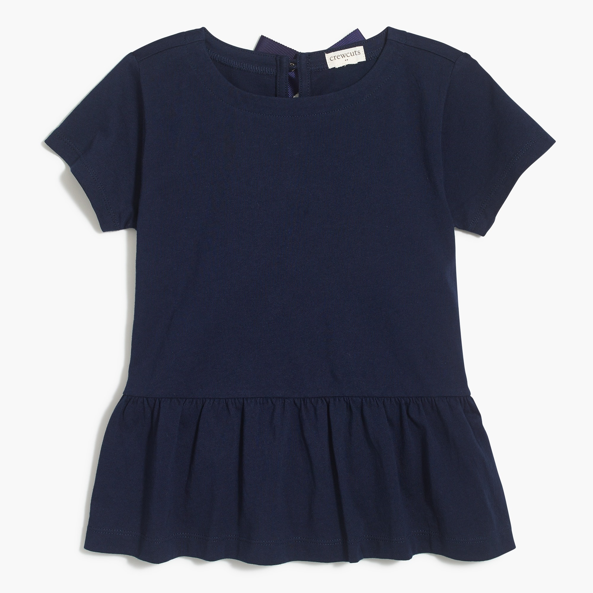 factory girls Girls' short-sleeve peplum T-shirt
