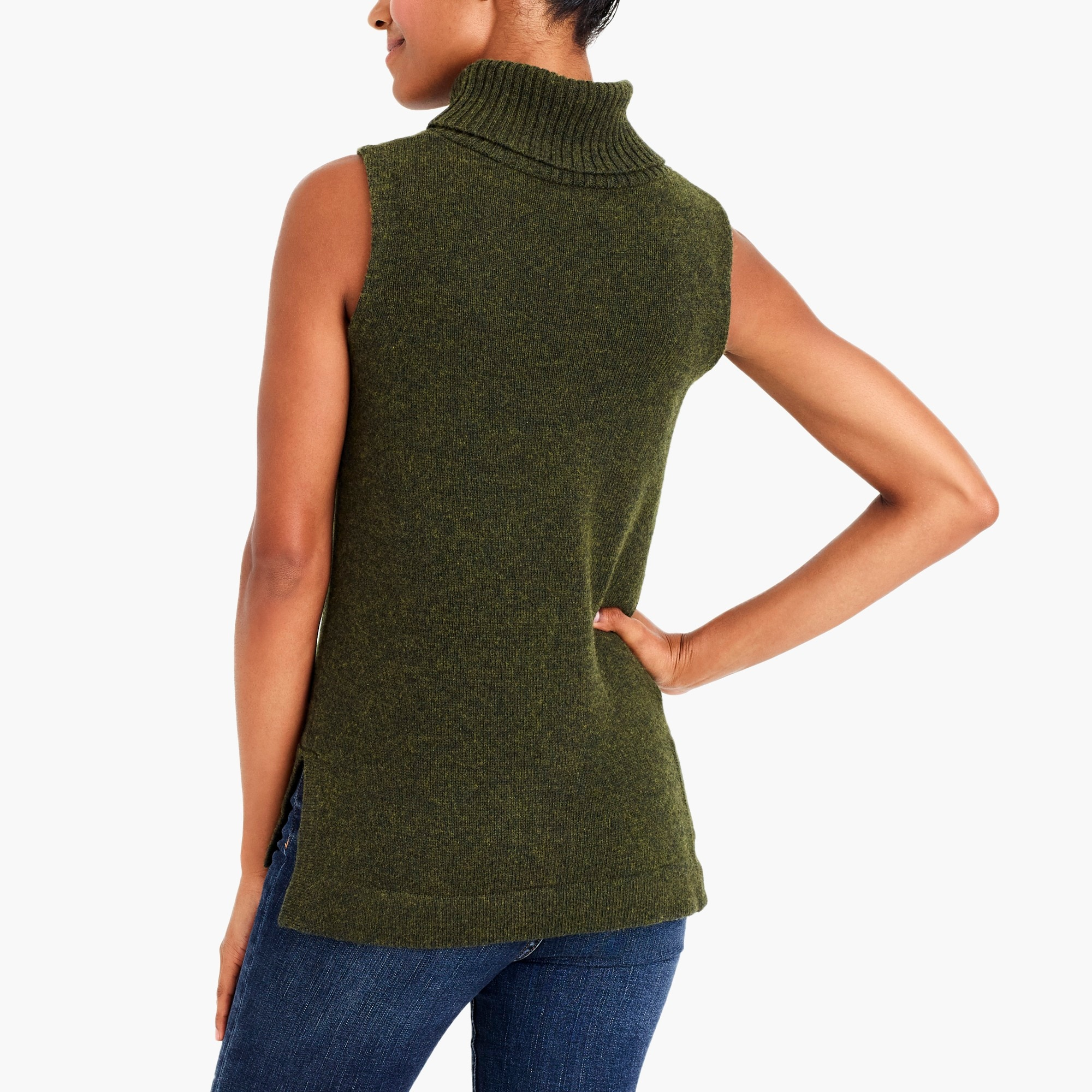 Turtleneck sweater tank top