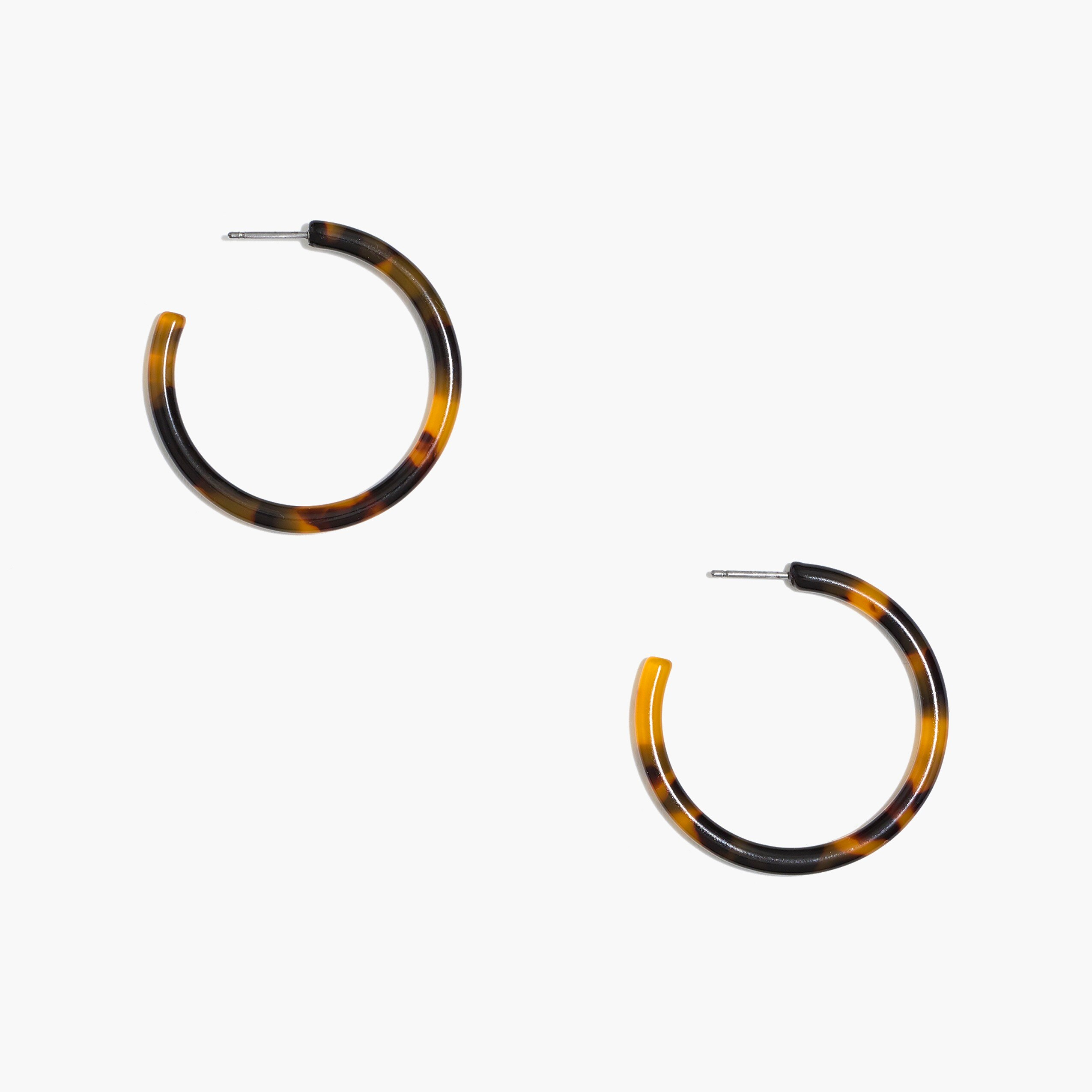 factory womens Tortoise hoop earrings