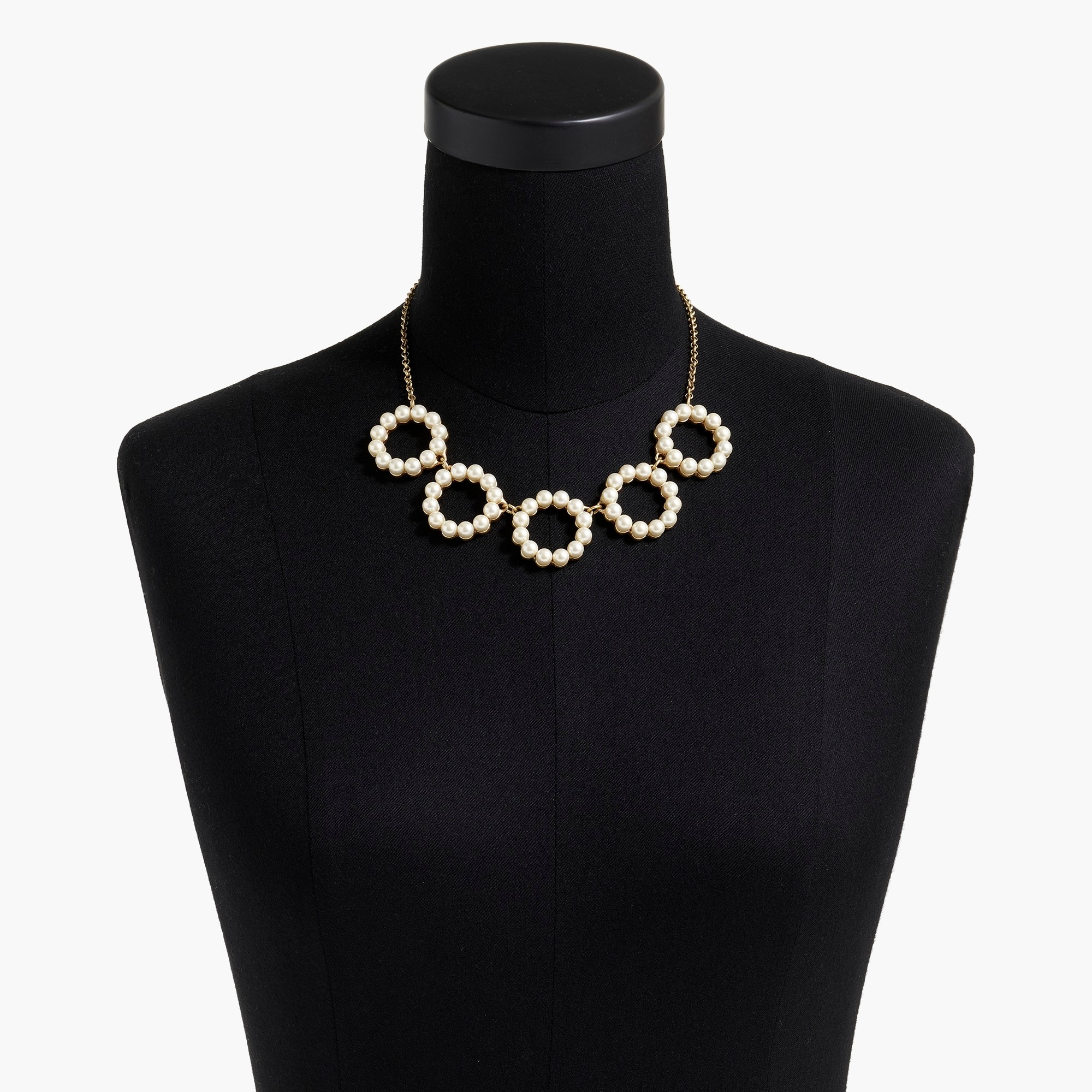 pearl circles statement necklace : factorywomen necklaces