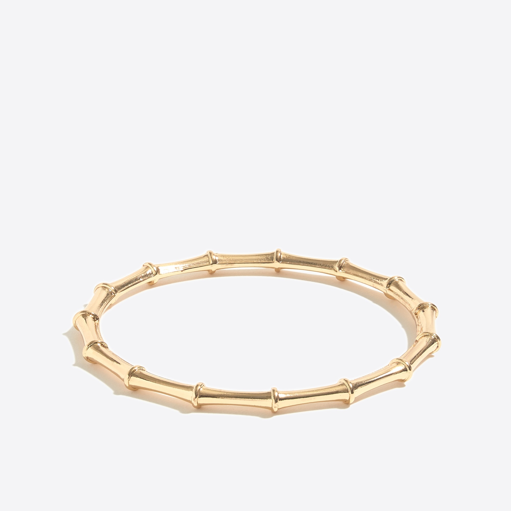 Image 1 for Golden bamboo bangle bracelet