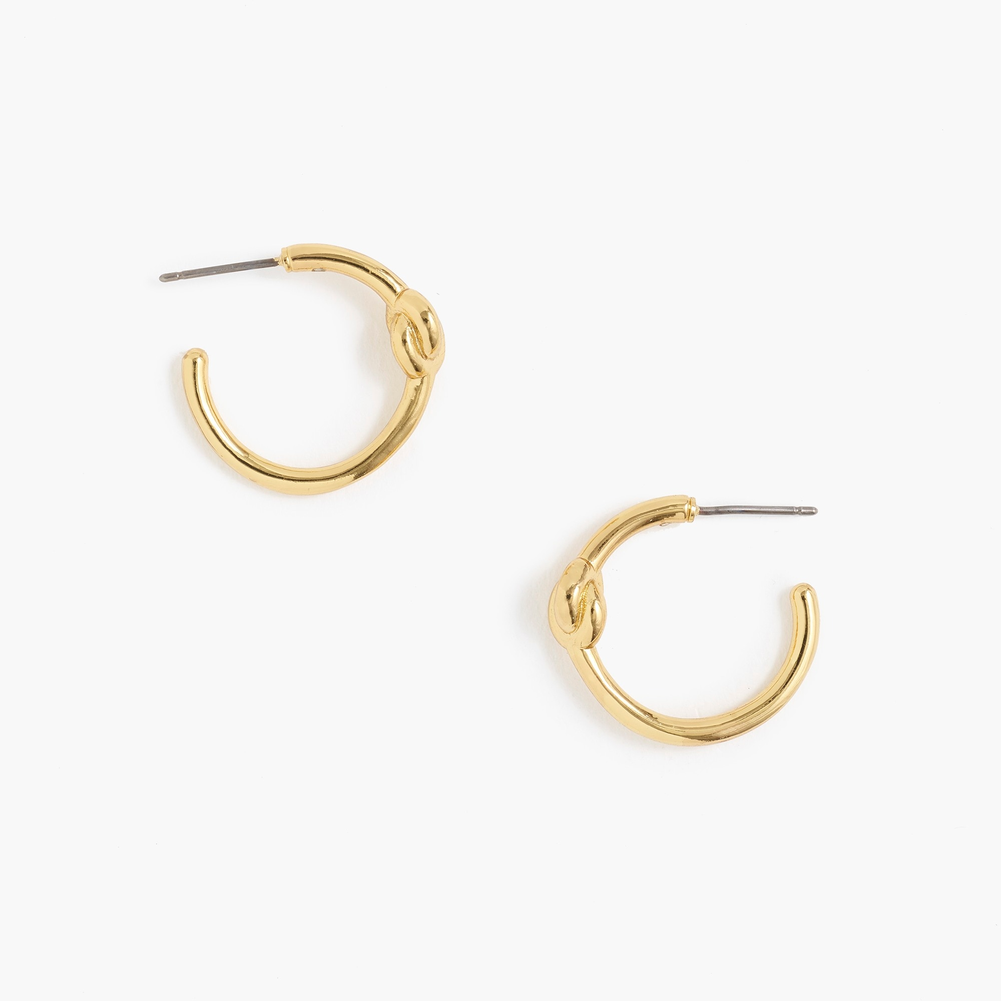 Knotted gold hoop earrings