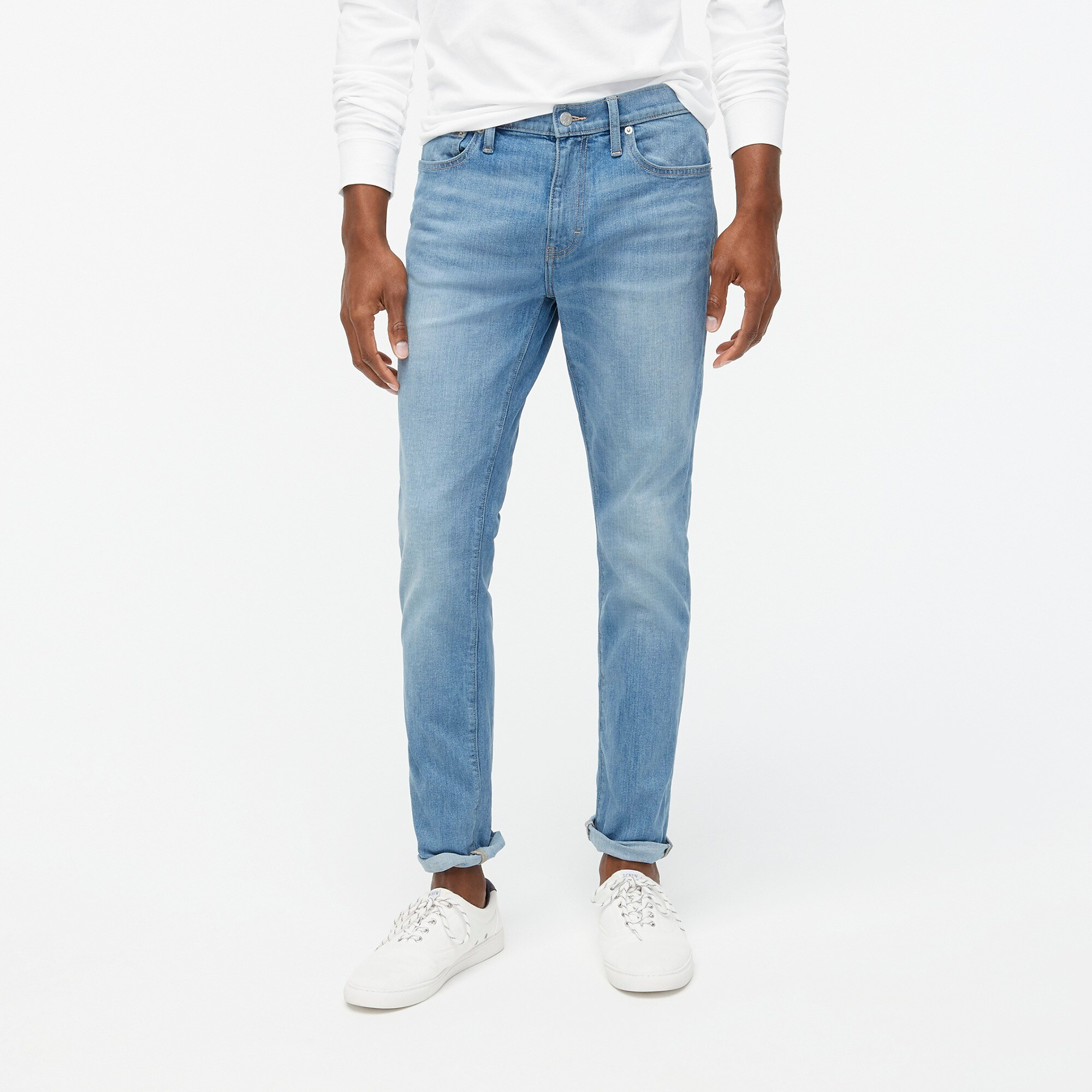 slim-fit flex jean in light wash : factorymen slim