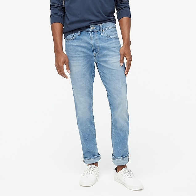 j.crew factory: straight-fit flex jean in light wash