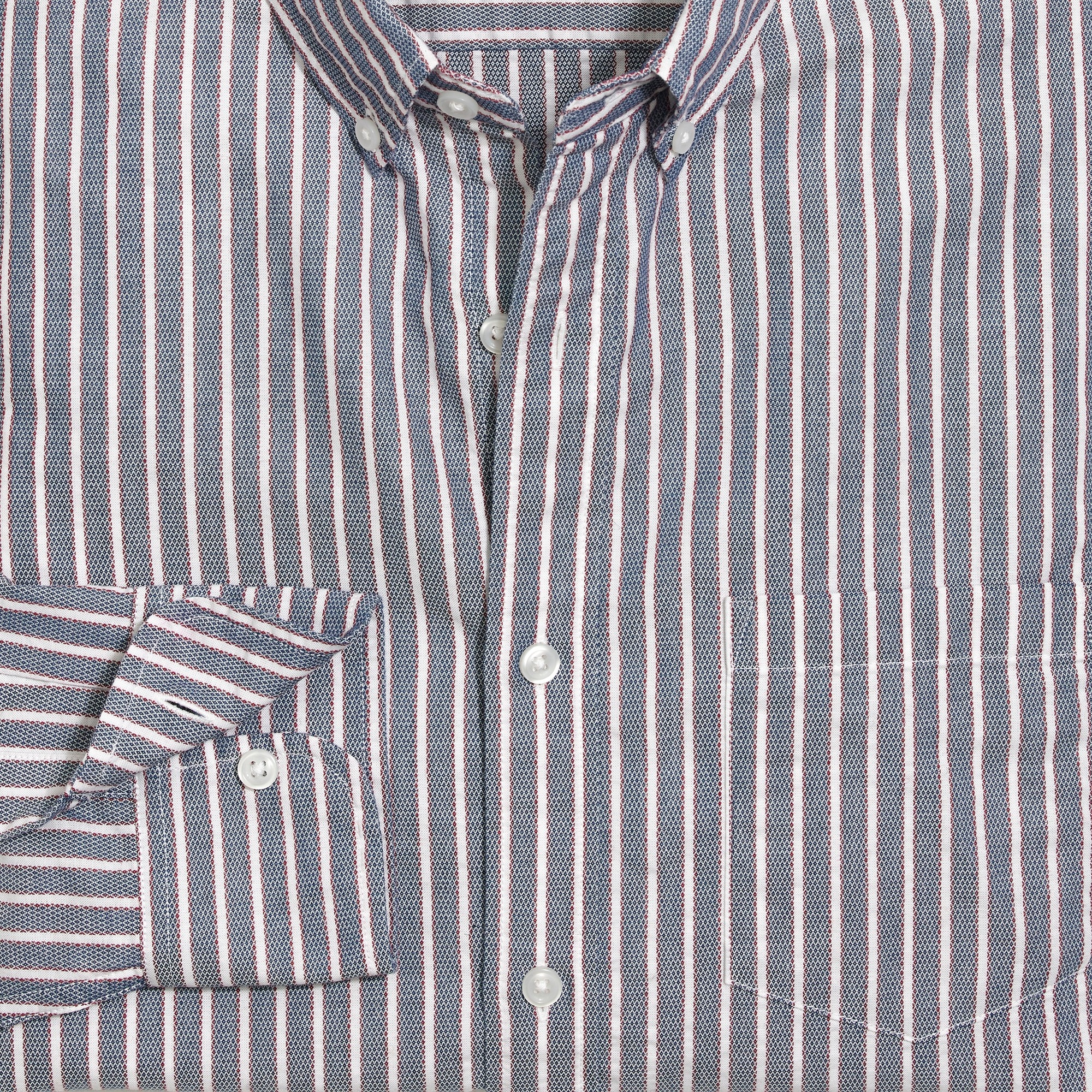 Image 1 for Slim flex cotton shirt in stripe