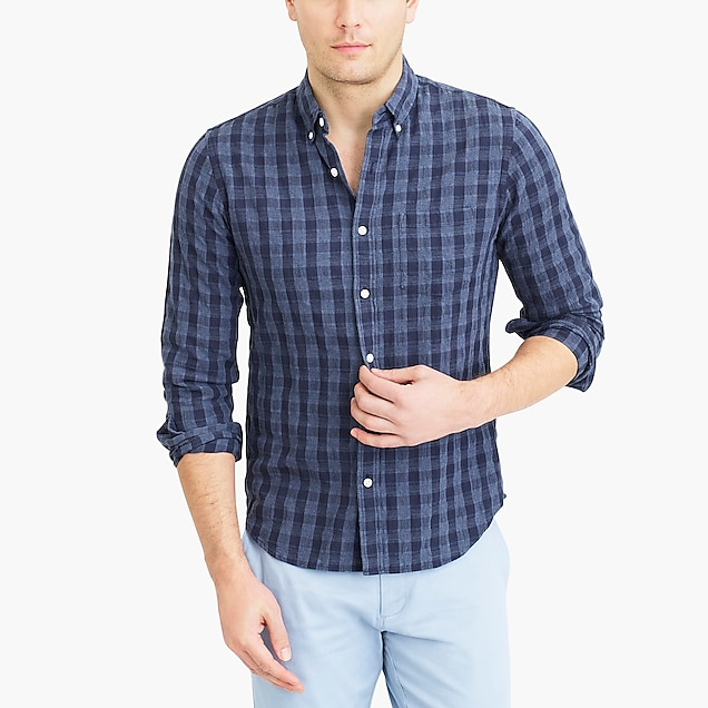 j.crew factory: slim cotton shirt in plaid