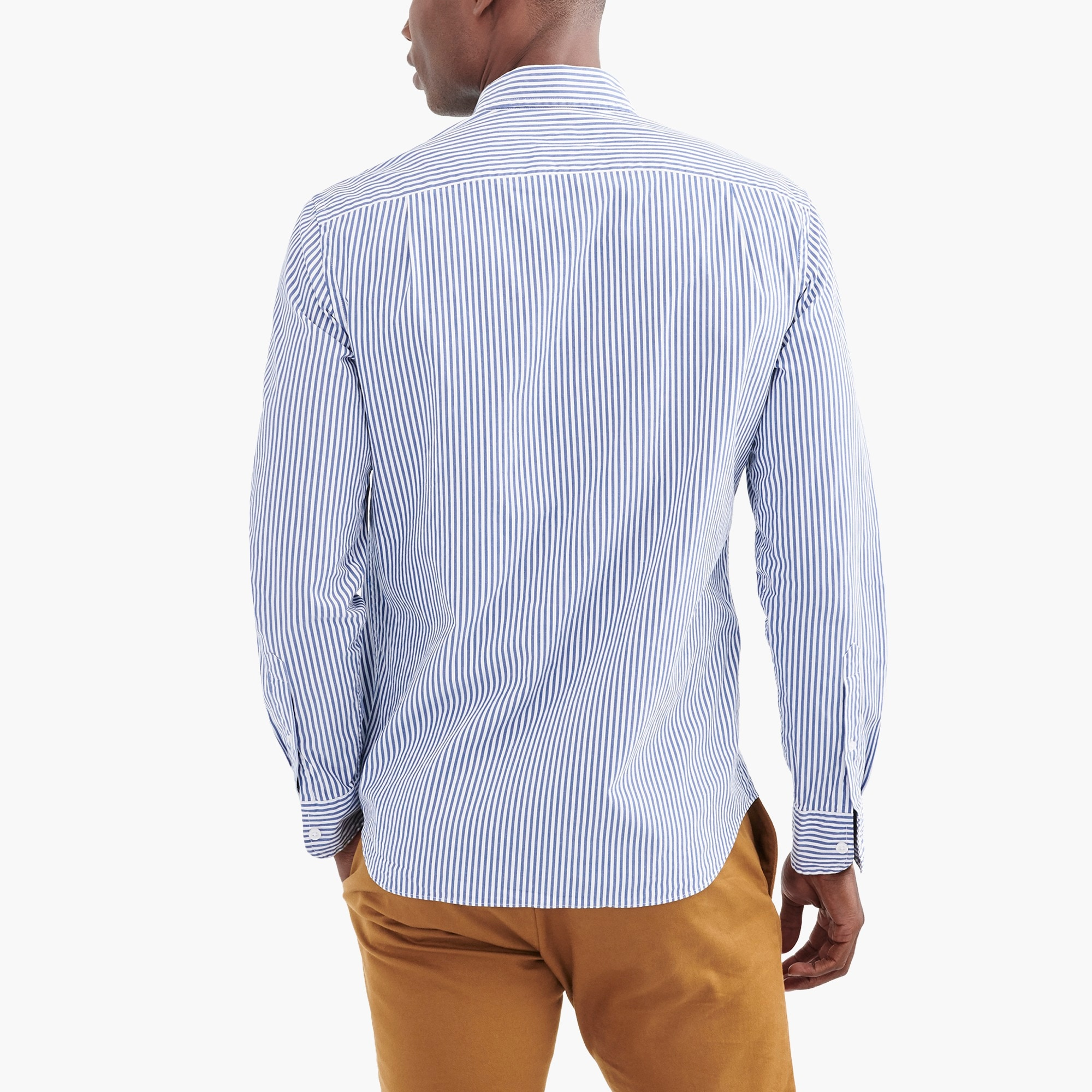 Slim flex washed shirt in stripe