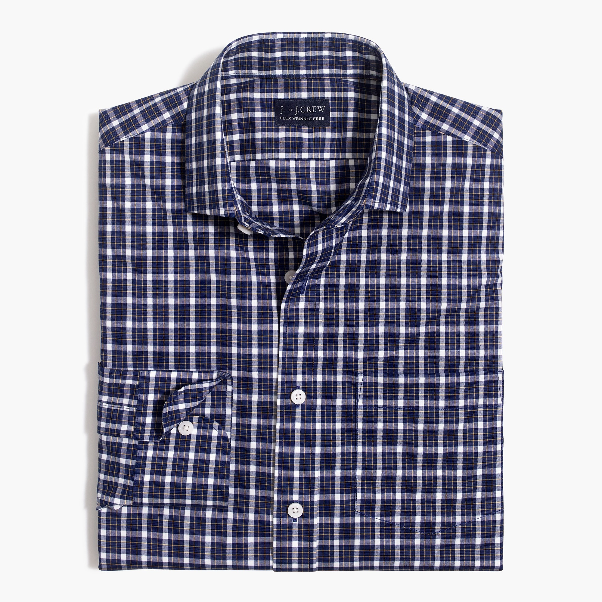 slim thompson flex wrinkle-free dress shirt : factorymen wrinkle-free dress shirts