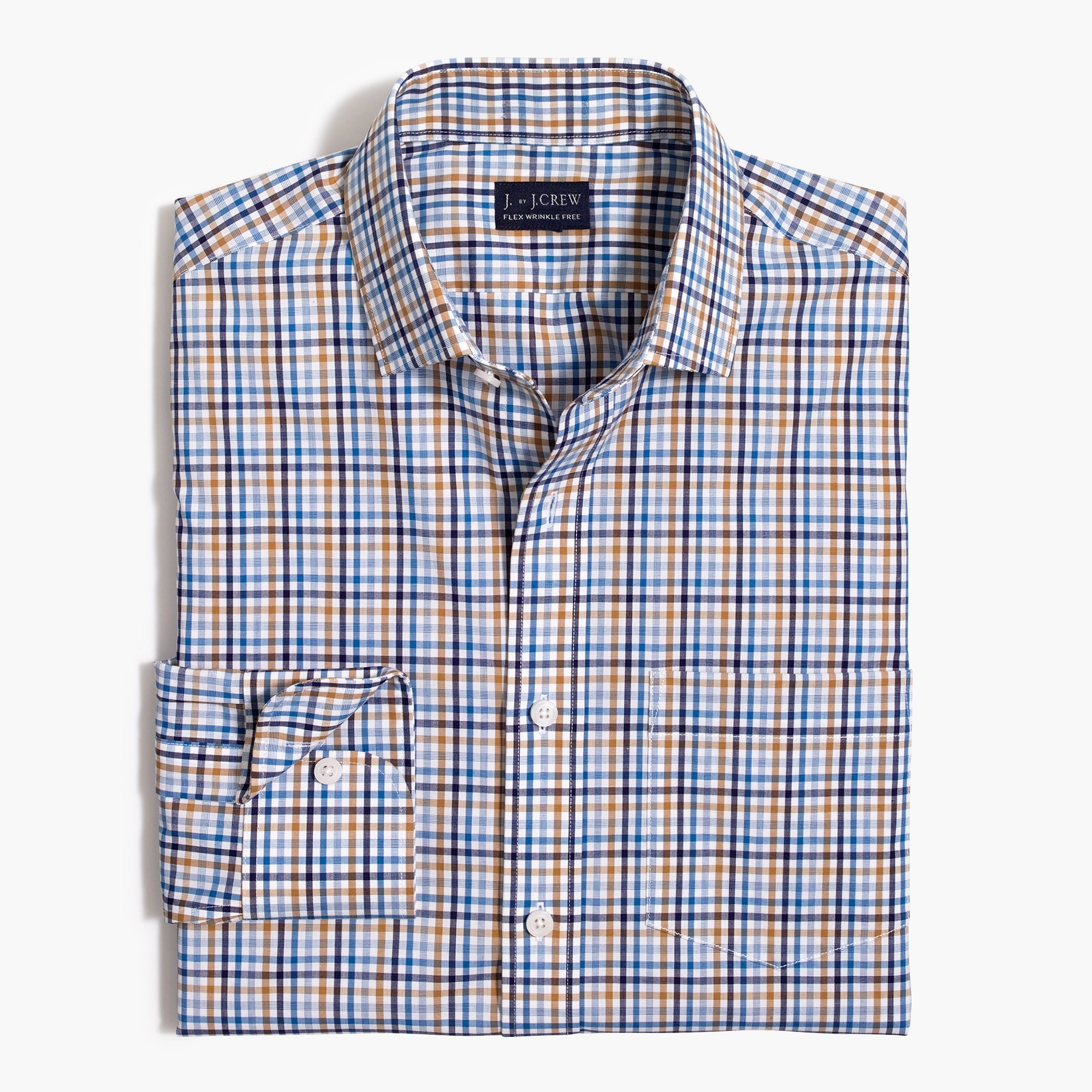 Image 1 for Slim Thompson flex wrinkle-free dress shirt