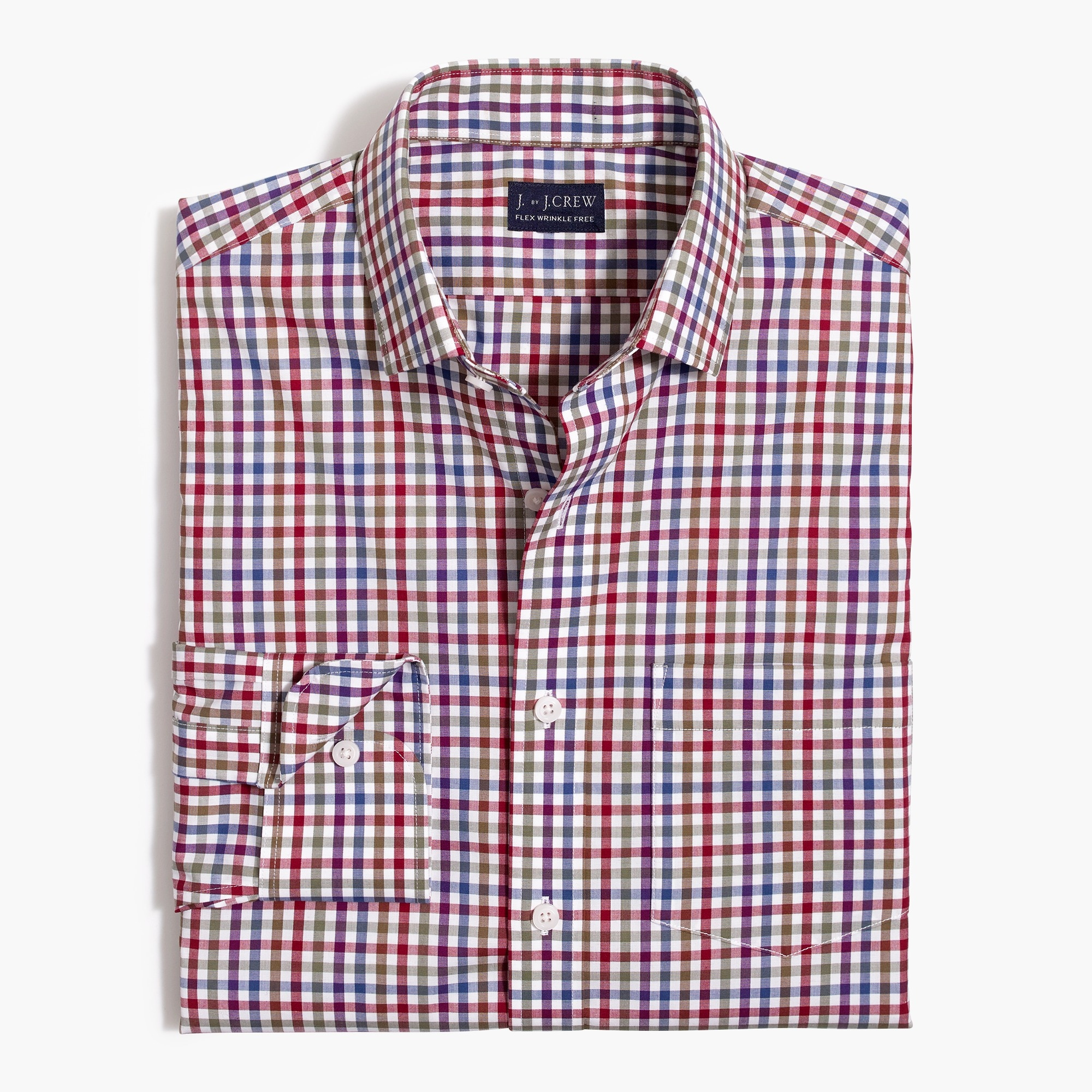 factory mens Slim Thompson flex wrinkle-free dress shirt